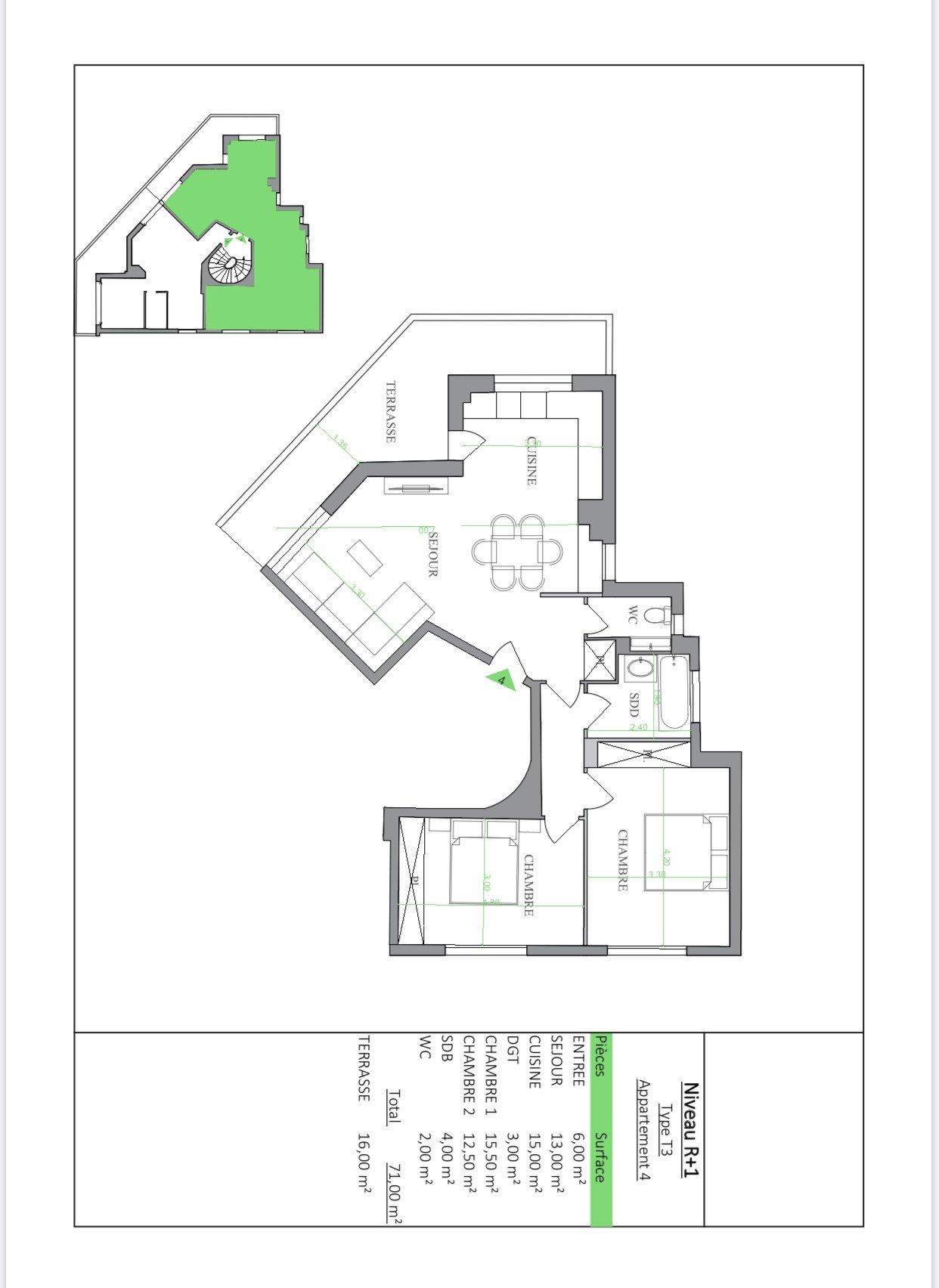 Immeuble de 8 lots avec caves , parkings et garages - Cannes Petit Juas