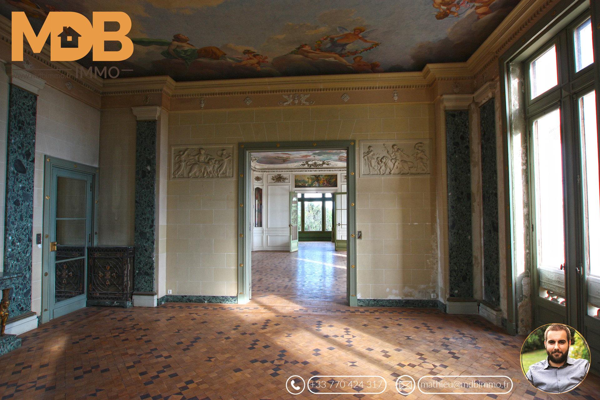 Nice - Gairaut - Chateau d'Azur - Villa appartement (Renaissance) - Vue panoramique mer - Piscine privative - Jardin - Perron - Prestige