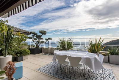 Exclusive contemporary penthouse in Eze in a prestigious secured estate