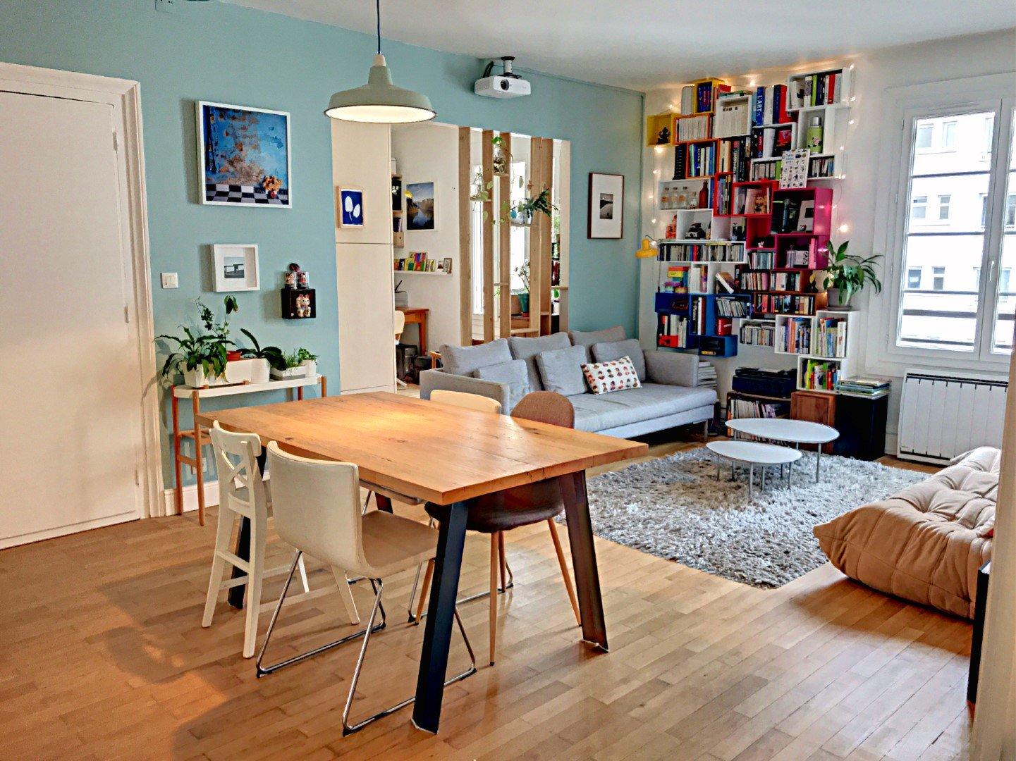 Achat Appartement, Surface de 91.28 m²/ Total carrez : 91.28 m², 4 pièces, Lyon 7ème (69007)