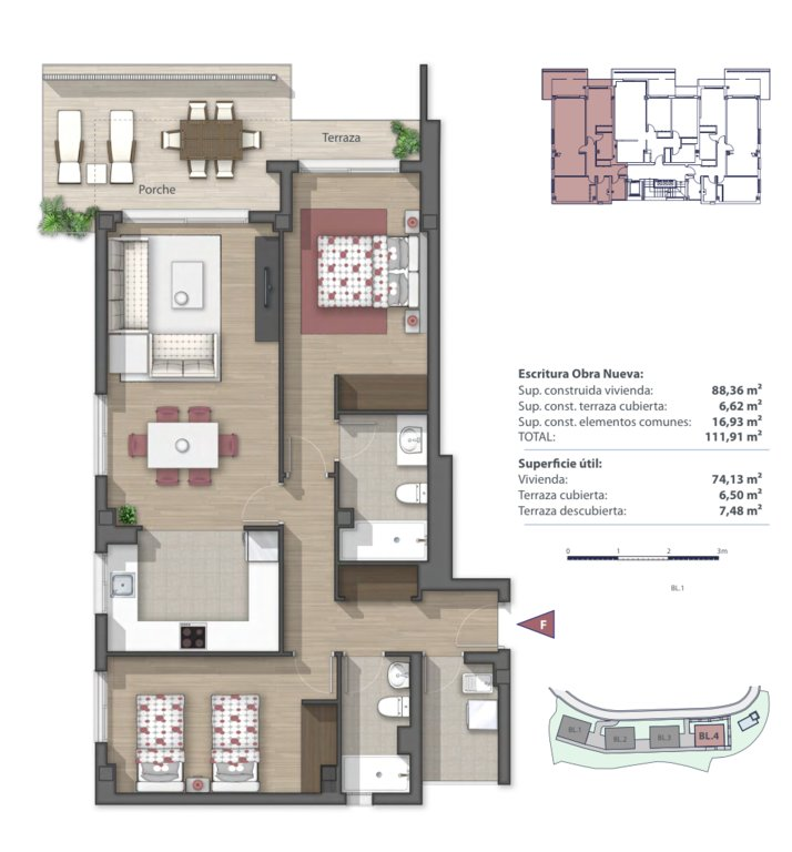 2-bedroom apartment in new residential complex