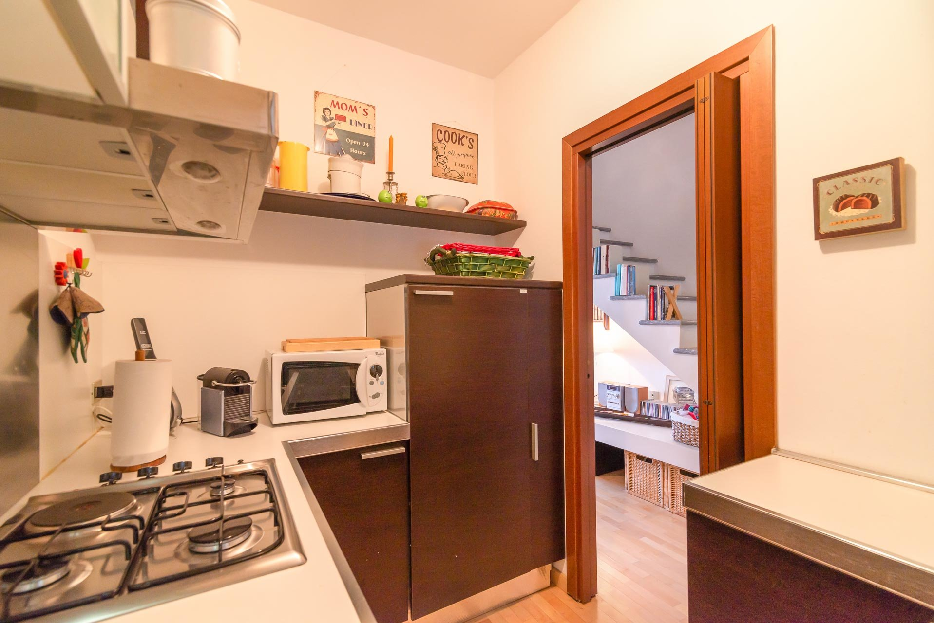 Apartment for sale in Stresa in a residence - fitted kitchen