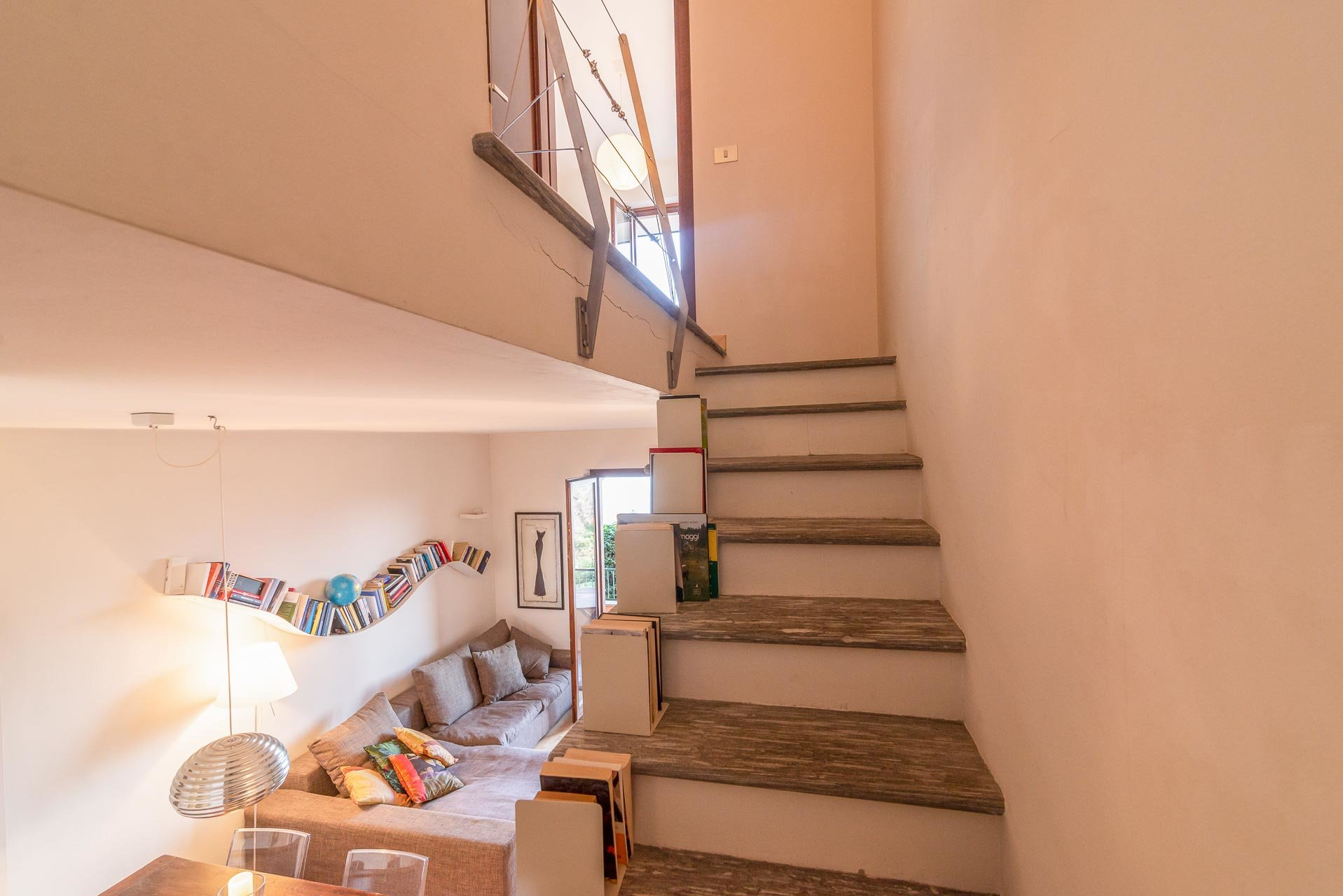 Apartment for sale in Stresa in a residence - sleeping area stairs