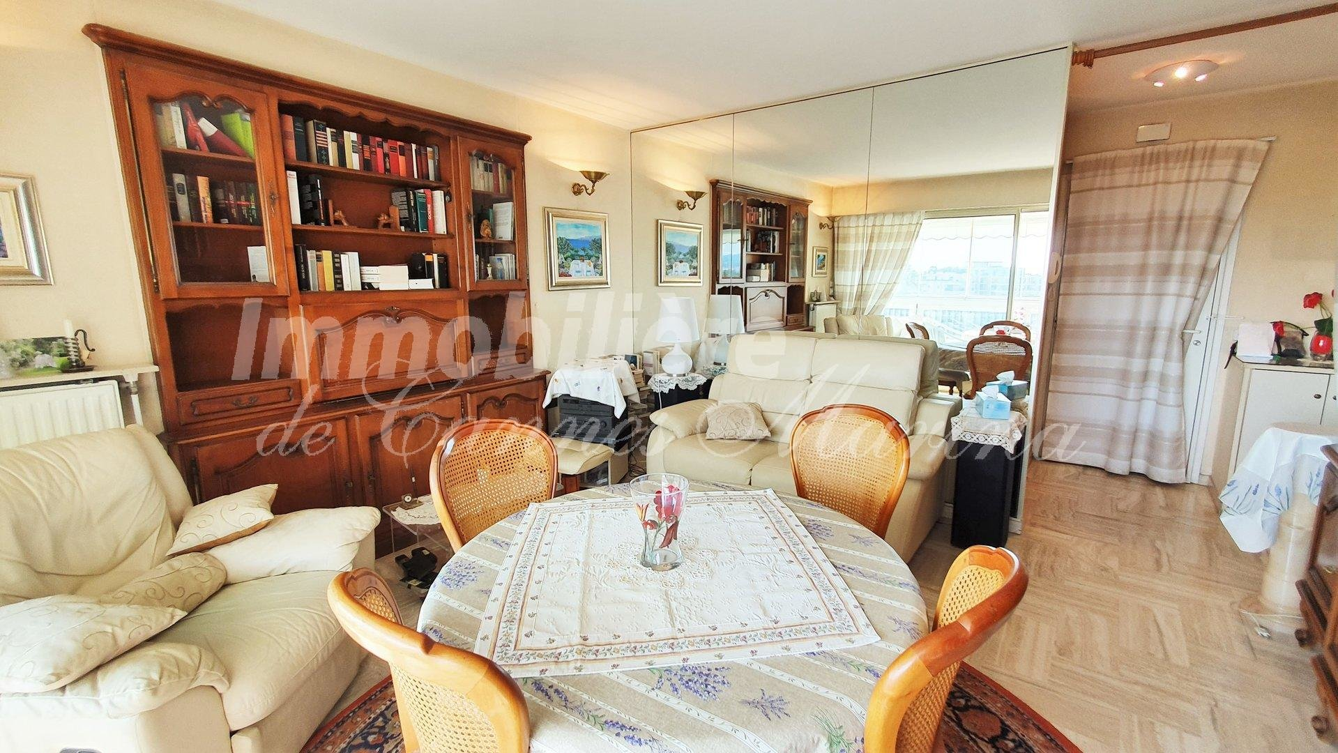 Magnificent one bedroom apartment with a large sunny terrace and view of the port