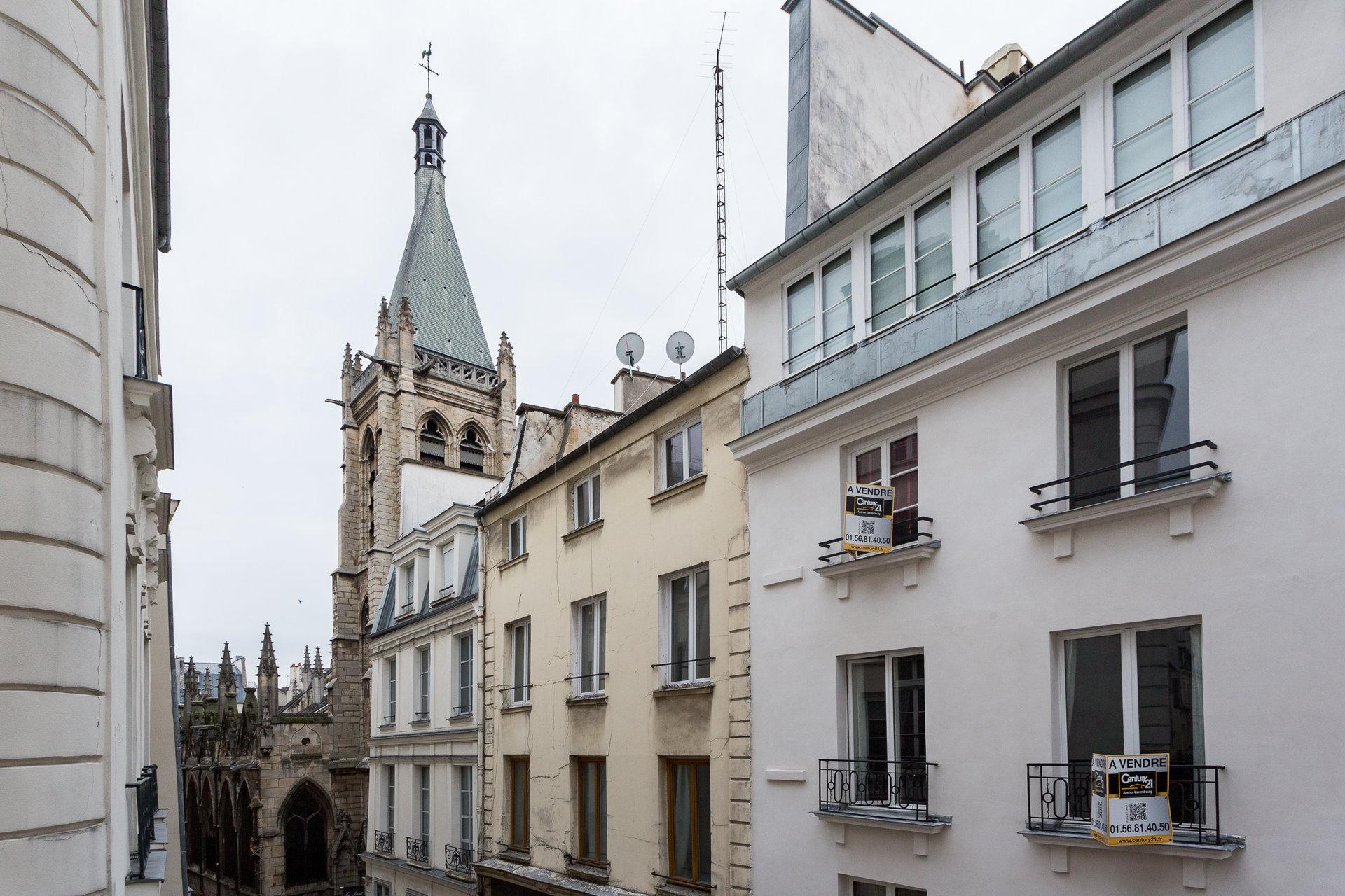 Paris - V ème - SAINT MICHEL / CLUNY LA SORBONNE - SECTORISATION HENRI IV - VUE ÉGLISE SAINT SÉVERIN