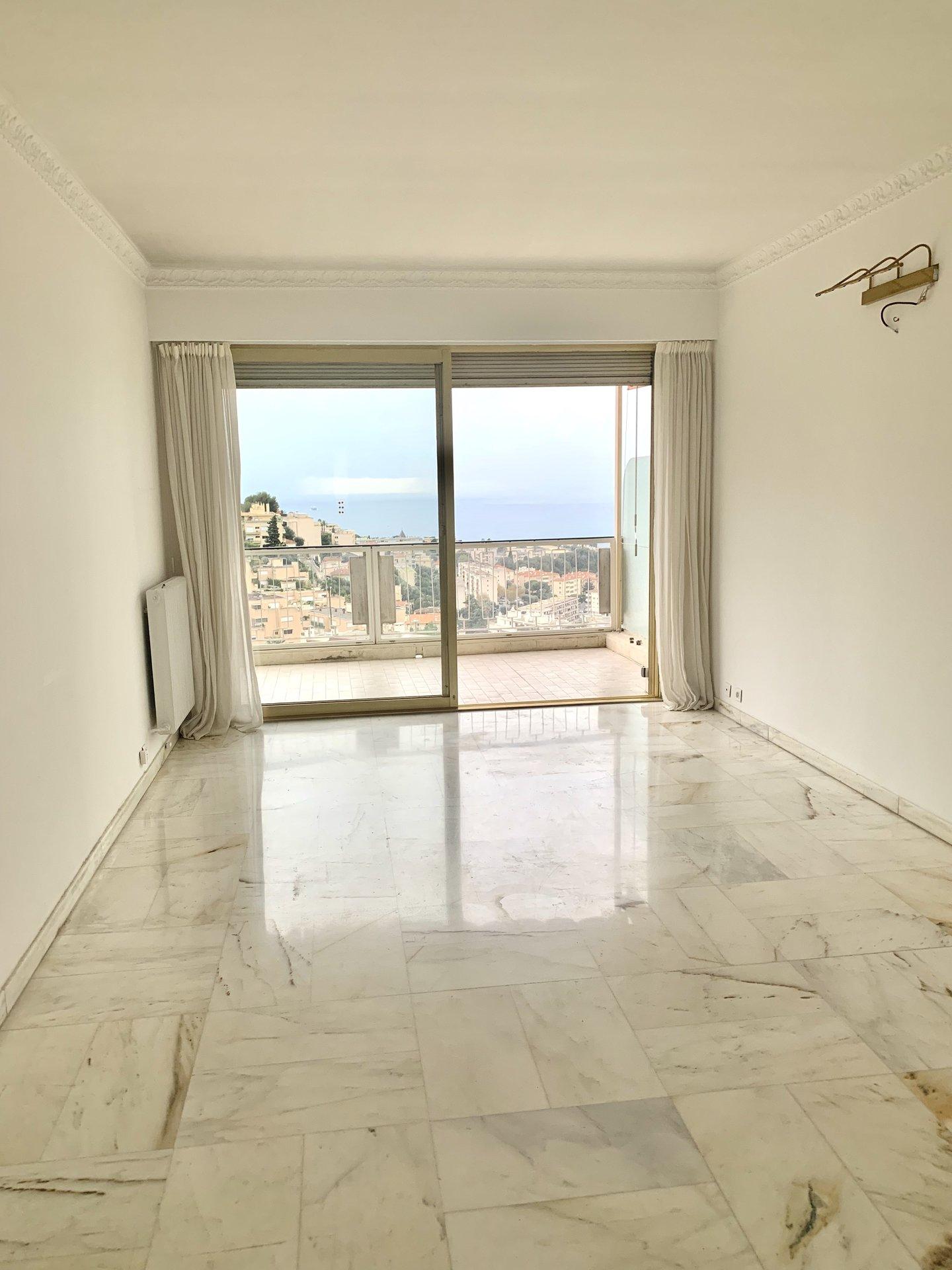 Nice Mont-Alban appartement dernier étage vue panoramique mer