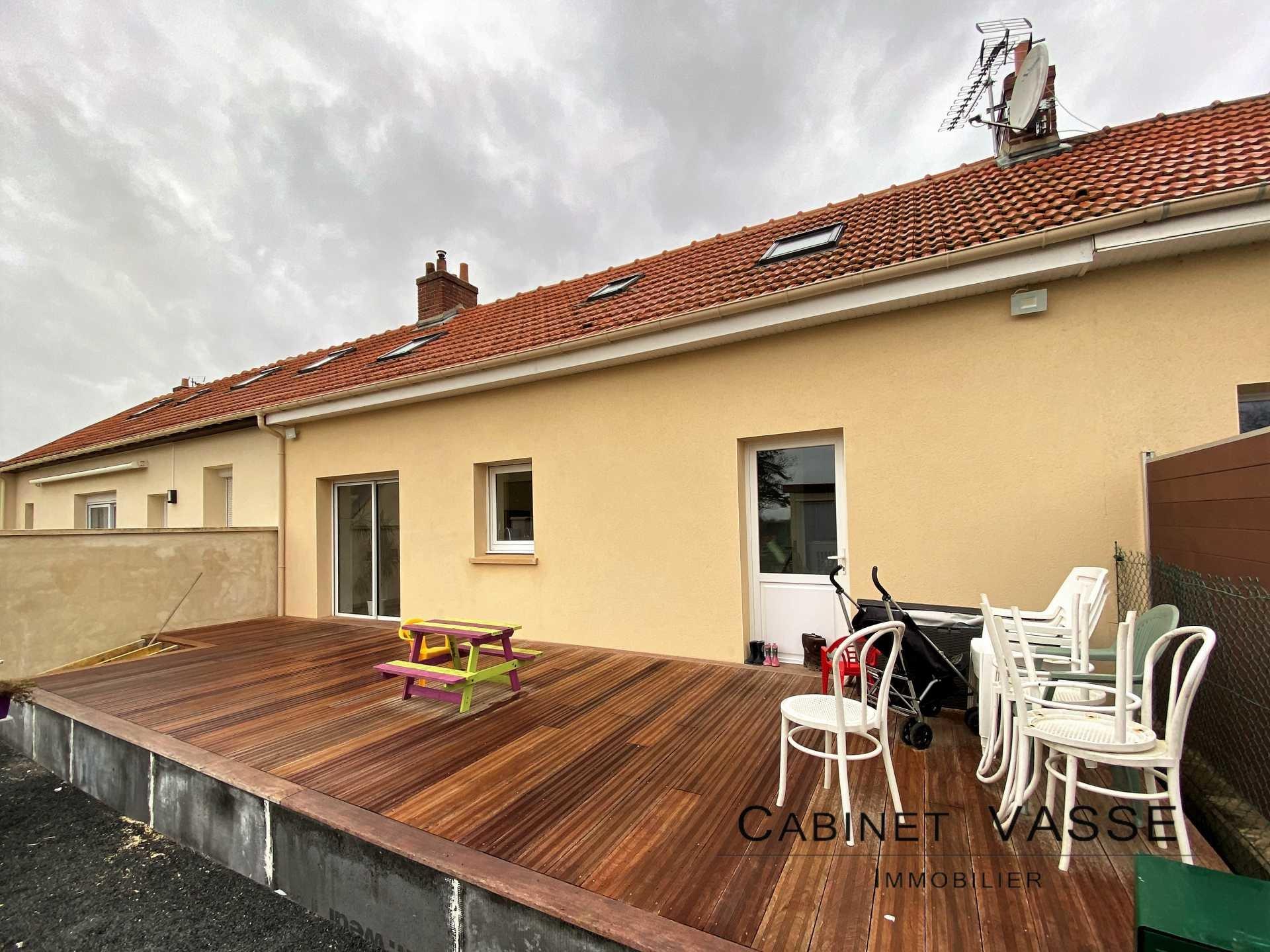 maison, jardin, terrasse, bois, vasse, a vendre