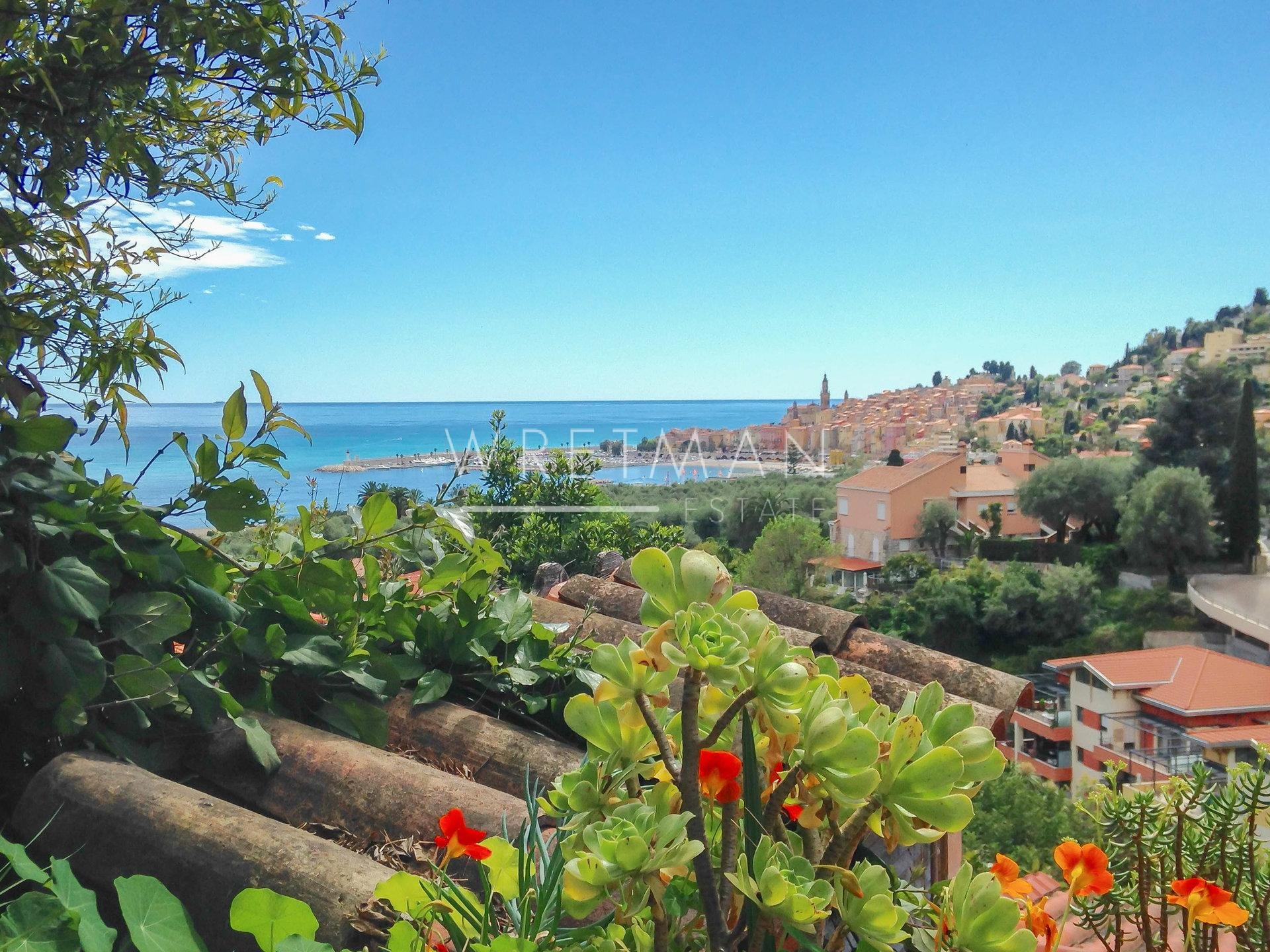 Small charming house  with terrasses and seaview - Menton Garavan