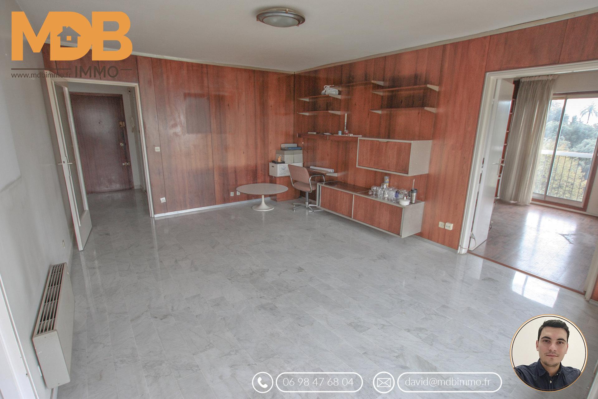 CIMIEZ - 3 pièces - 4eme étage - Grande terrasse - Piscine - Parking