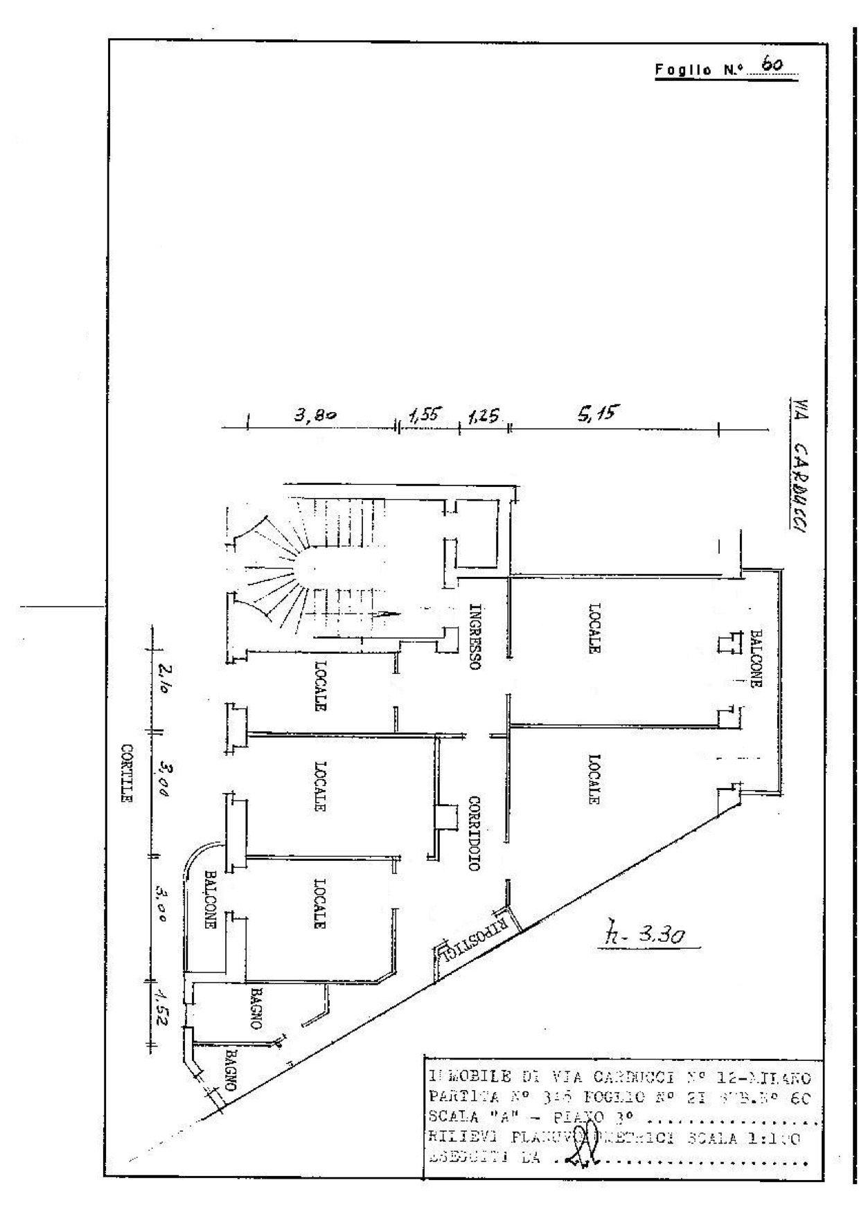 Planimetria Ufficio Terzo Piano