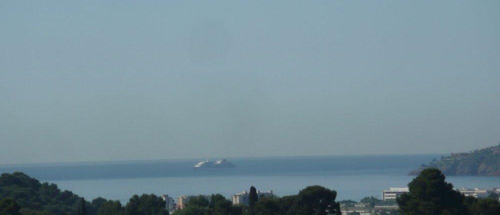 vue panoramique mer et campagne