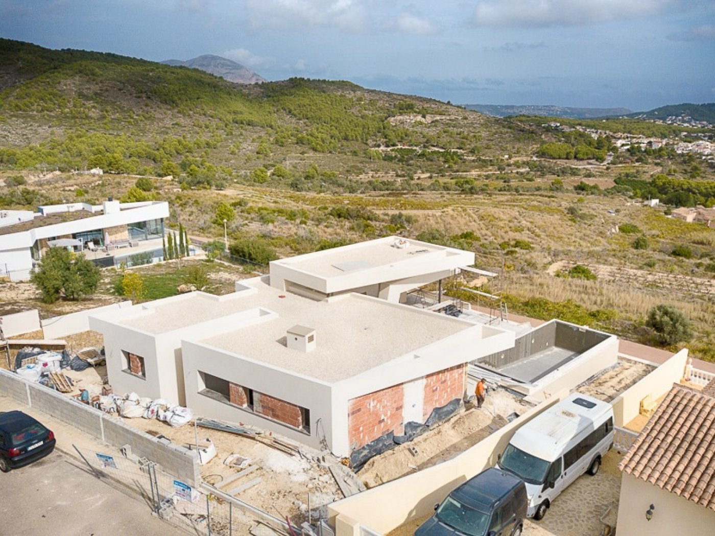 Large superb quality villa with sea views