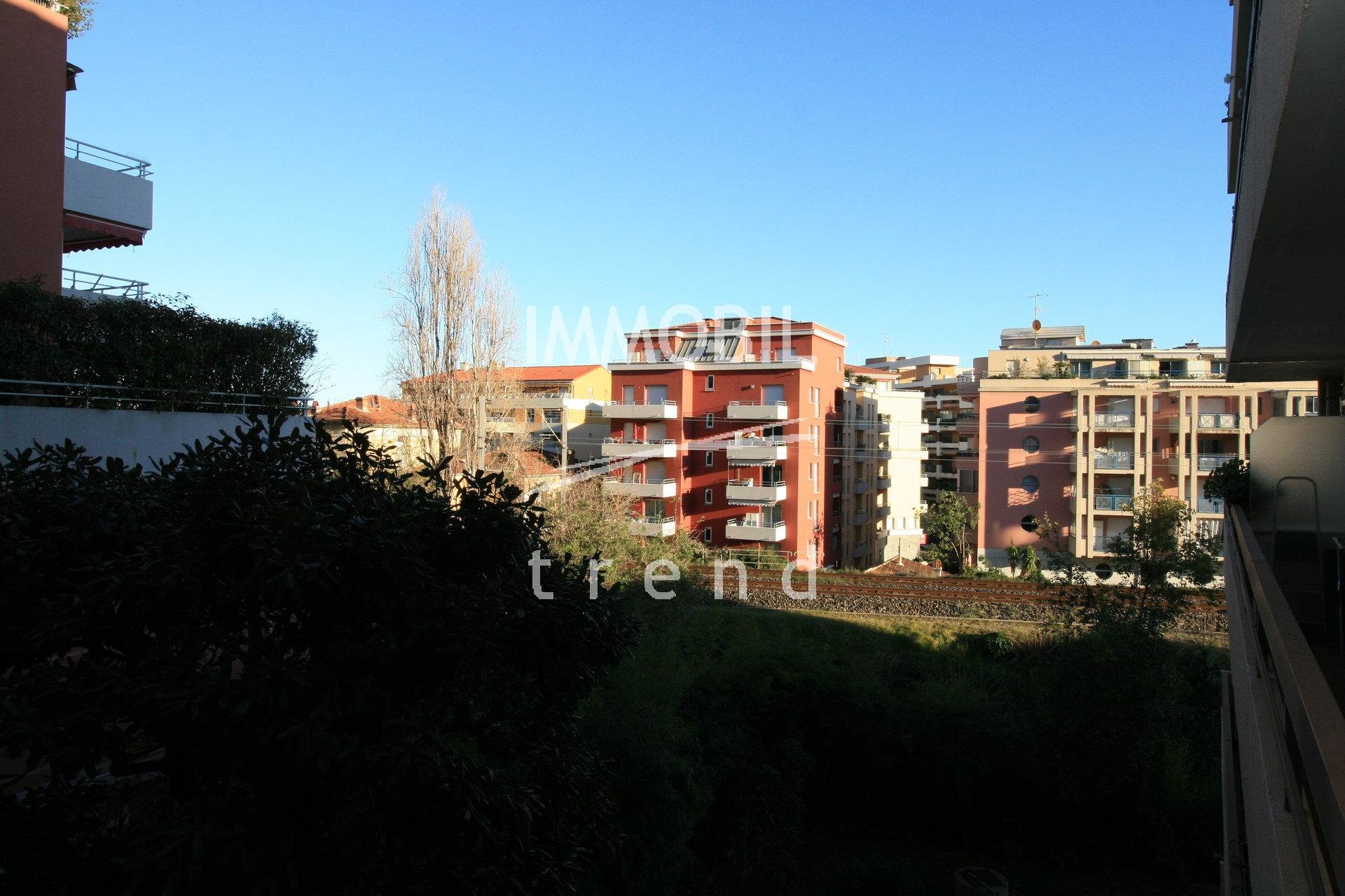 MENTON REAL ESTATE - 1 bedroom apartment for sale with balcony and cellar