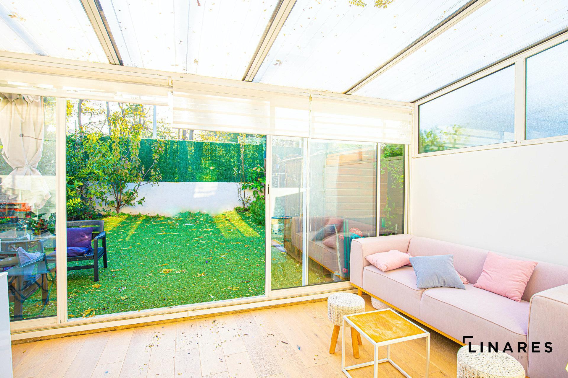 LA MIGNONNETTE Maison de ville T4 de 70m2 + véranda 15m2 + Jardin 47m2