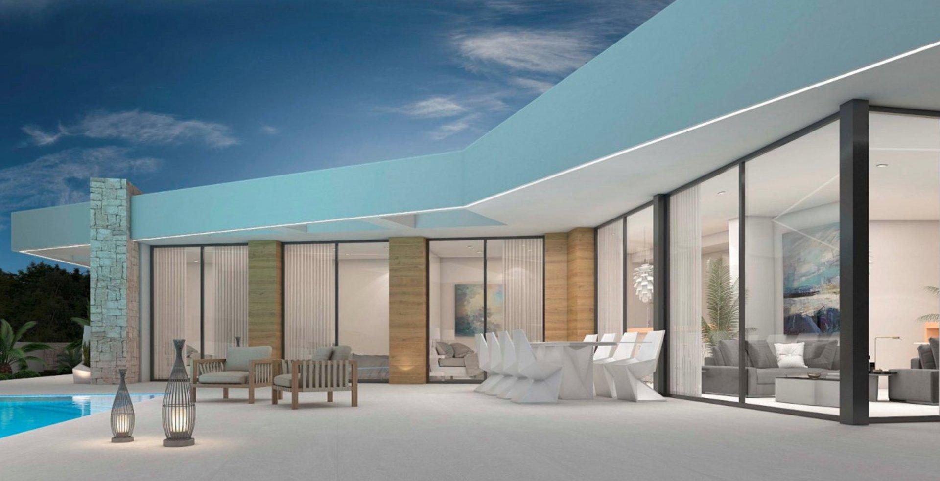 Excellente villa - sur un seul étage - avec vue sur la mer