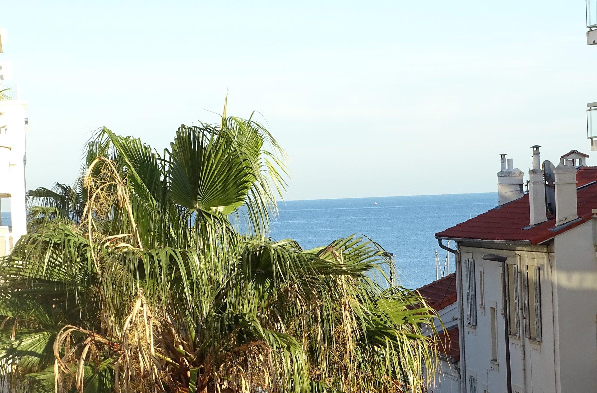 Appartement 2 pièces Cannes Palm Beach Aperçu mer