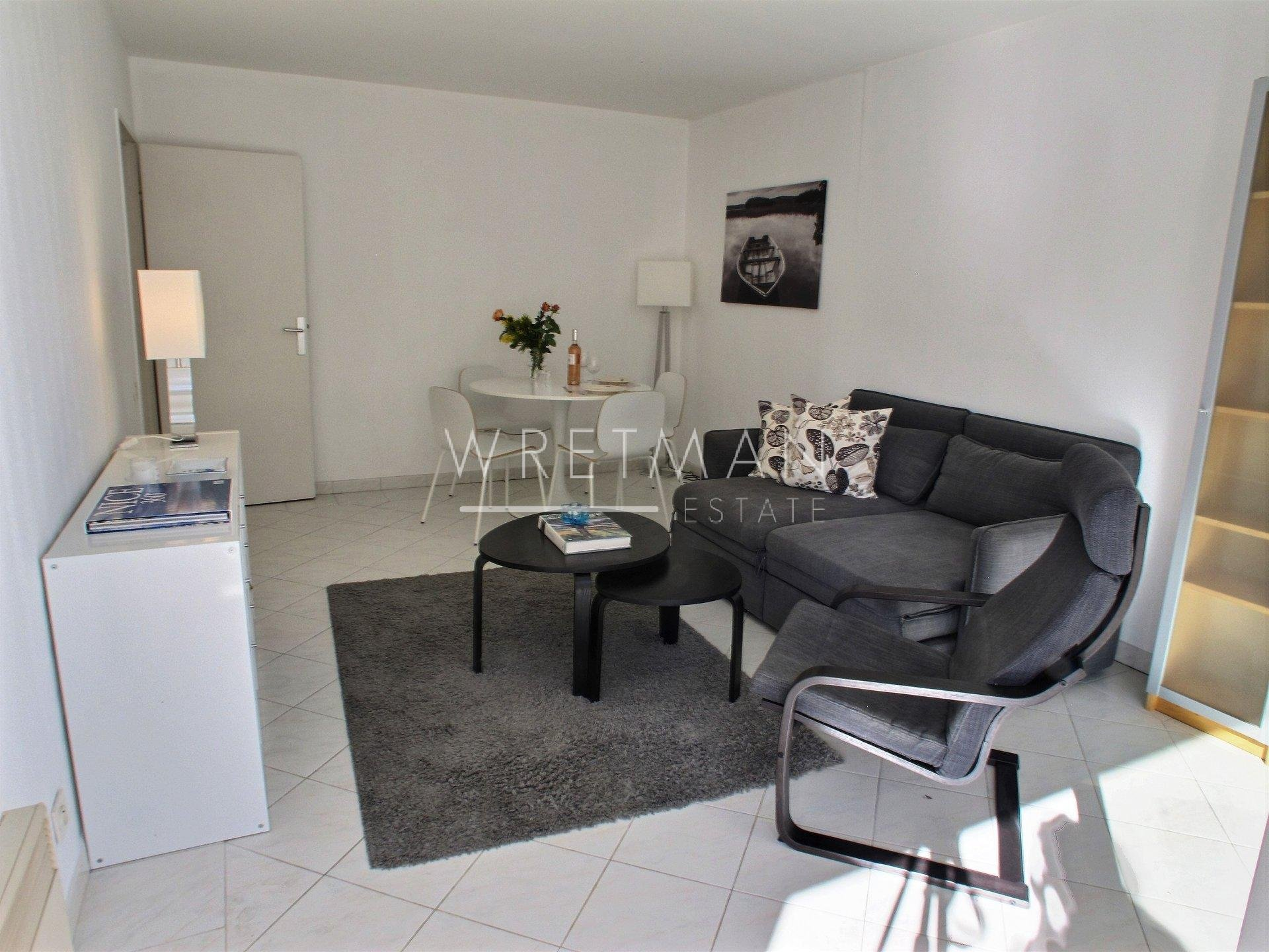 1-bed with balcony and pool - Juan les Pins
