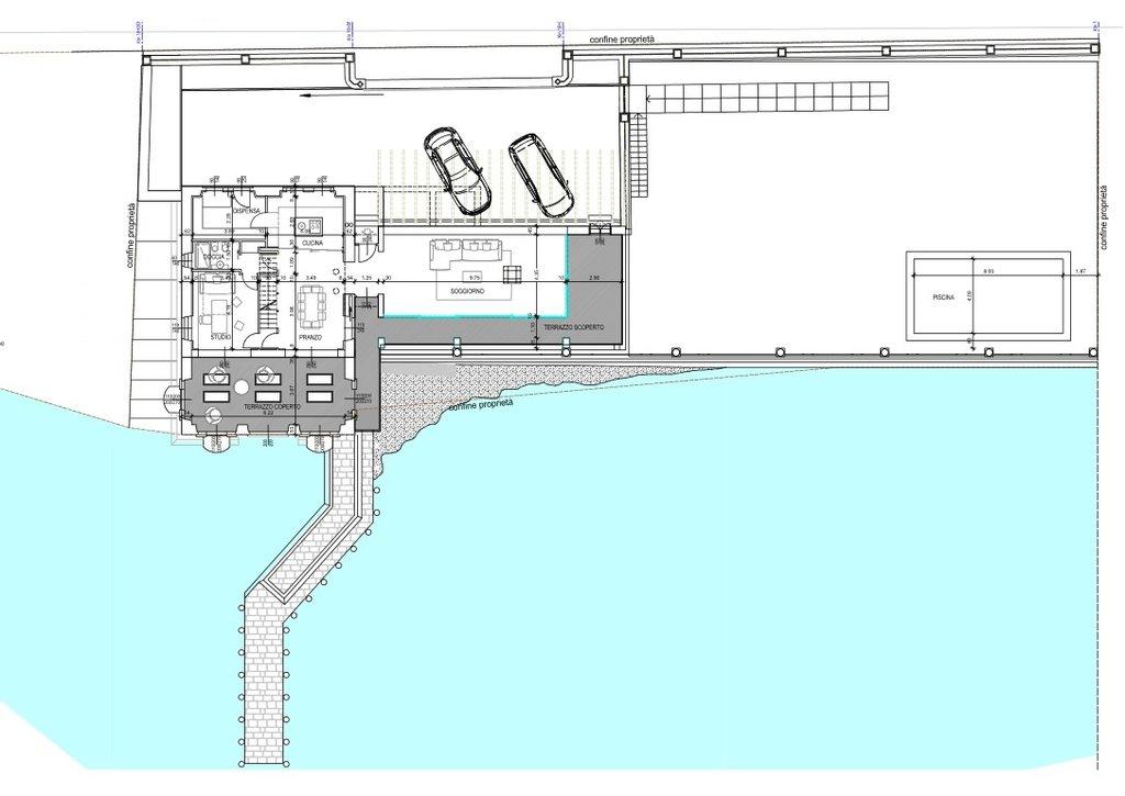 Villa d'epoca pieds dans l'eau in vendita a Ghiffa - progetto piano rialzato