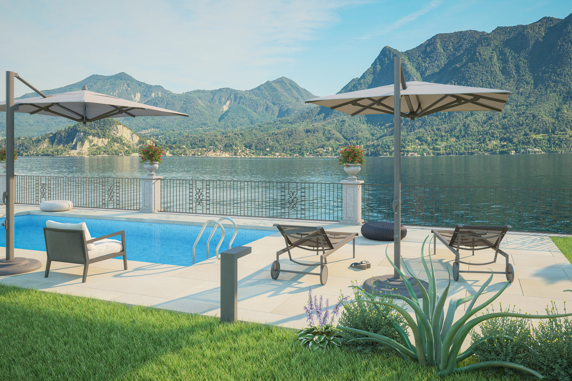 Period villa pieds dans l'eau for sale in Ghiffa - lake view swimming pool