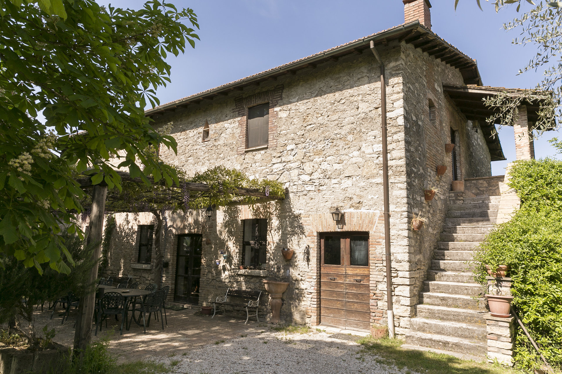 3 HISTORIC FARMHOUSES WITH LAND AND 2 SWIMMING POOLS | ORTE | TUSCIA