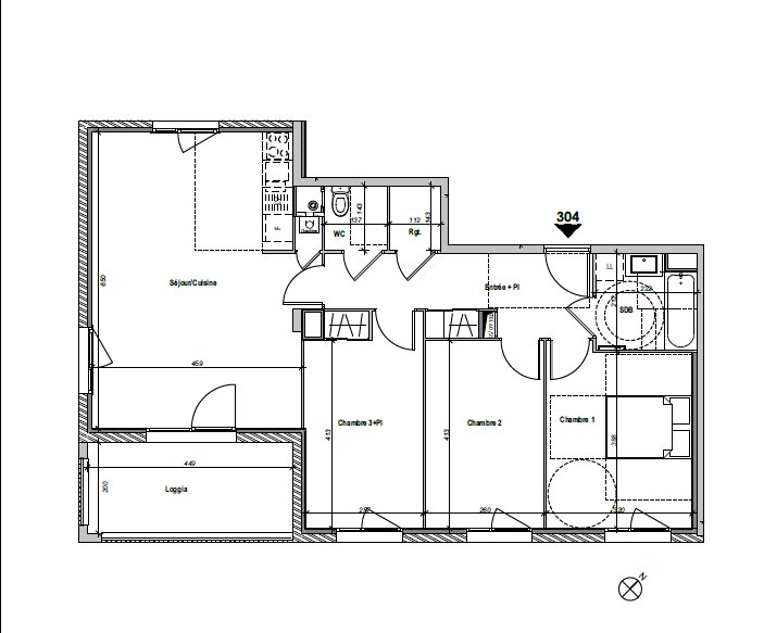 Achat Appartement, Surface de 83.07 m², 4 pièces, Lyon 8ème (69008)