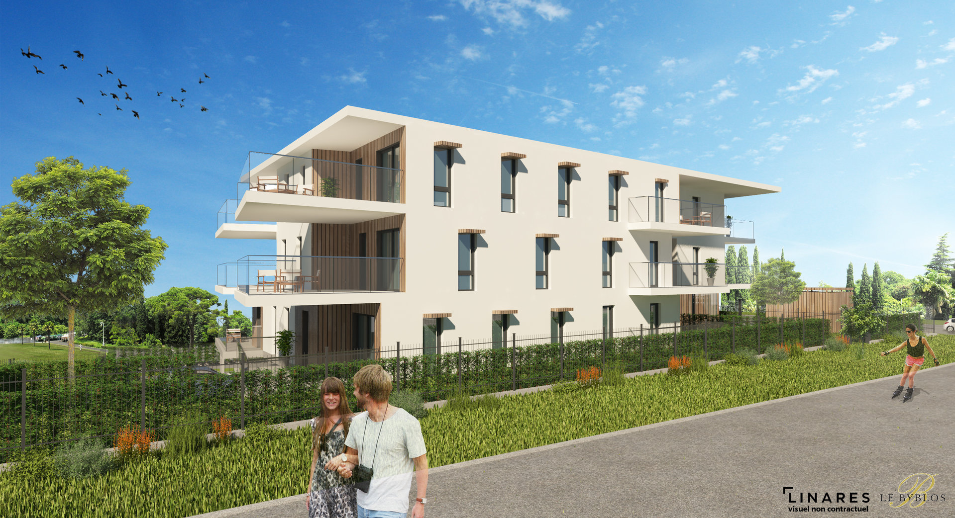 """""""LE BYBLOS"""" Appartement type 3 de 55m2 + 20m2 de terrasse Vitrolles"""