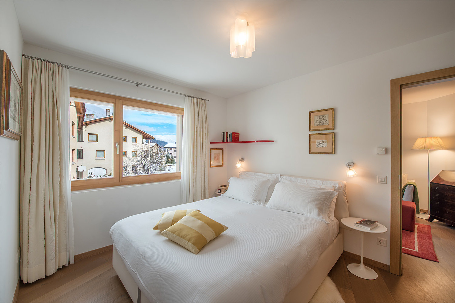 Apartment for sale in Celerina, Switzerland alps-bedroom