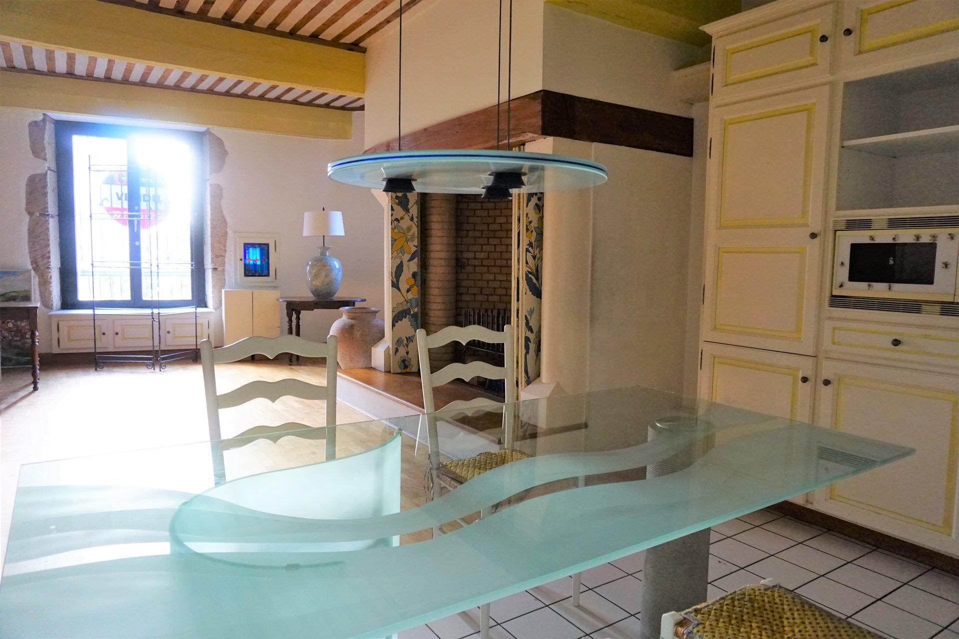L'espace cuisine salle à manger