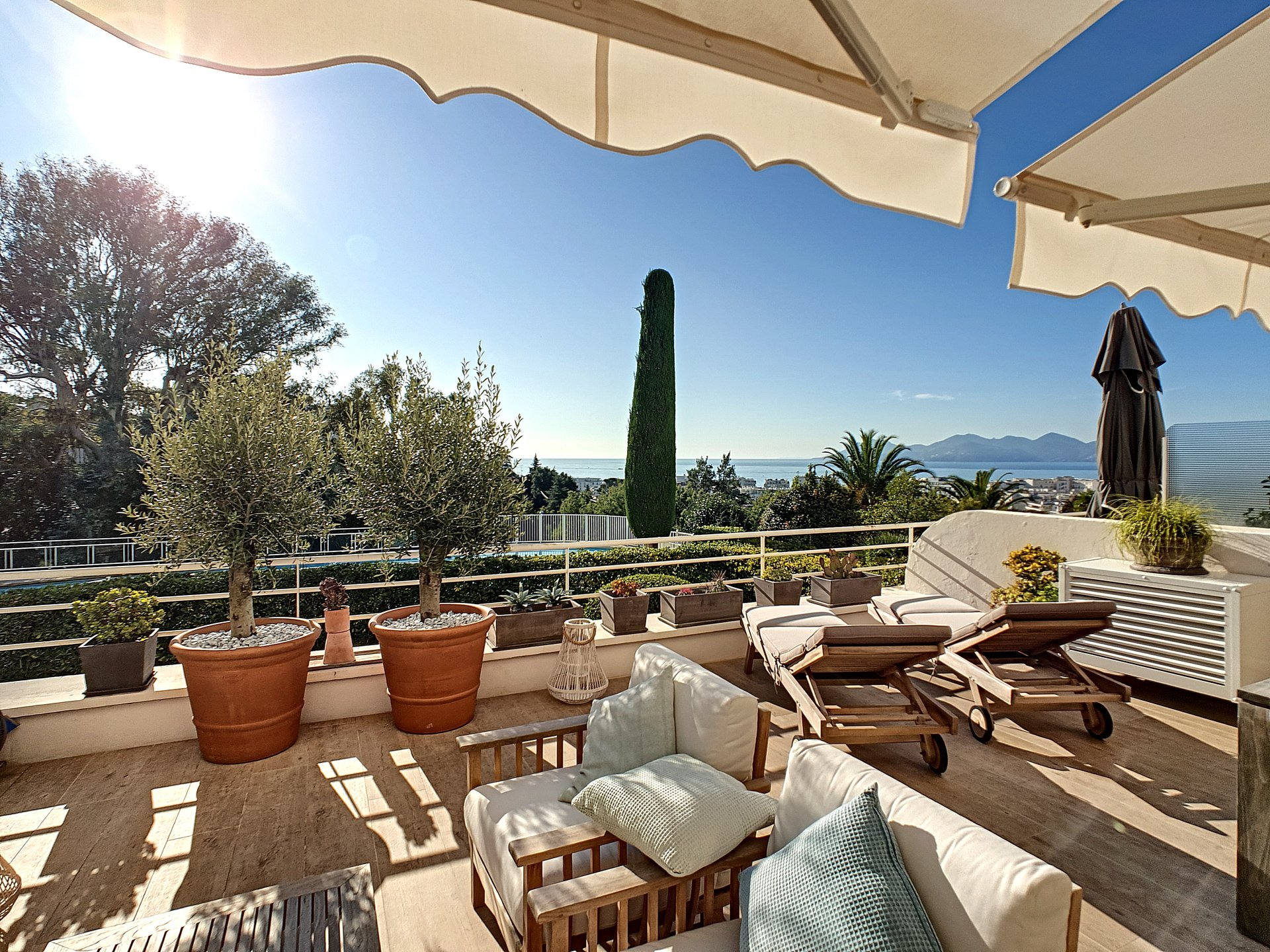 Cannes Californie panoramic sea view