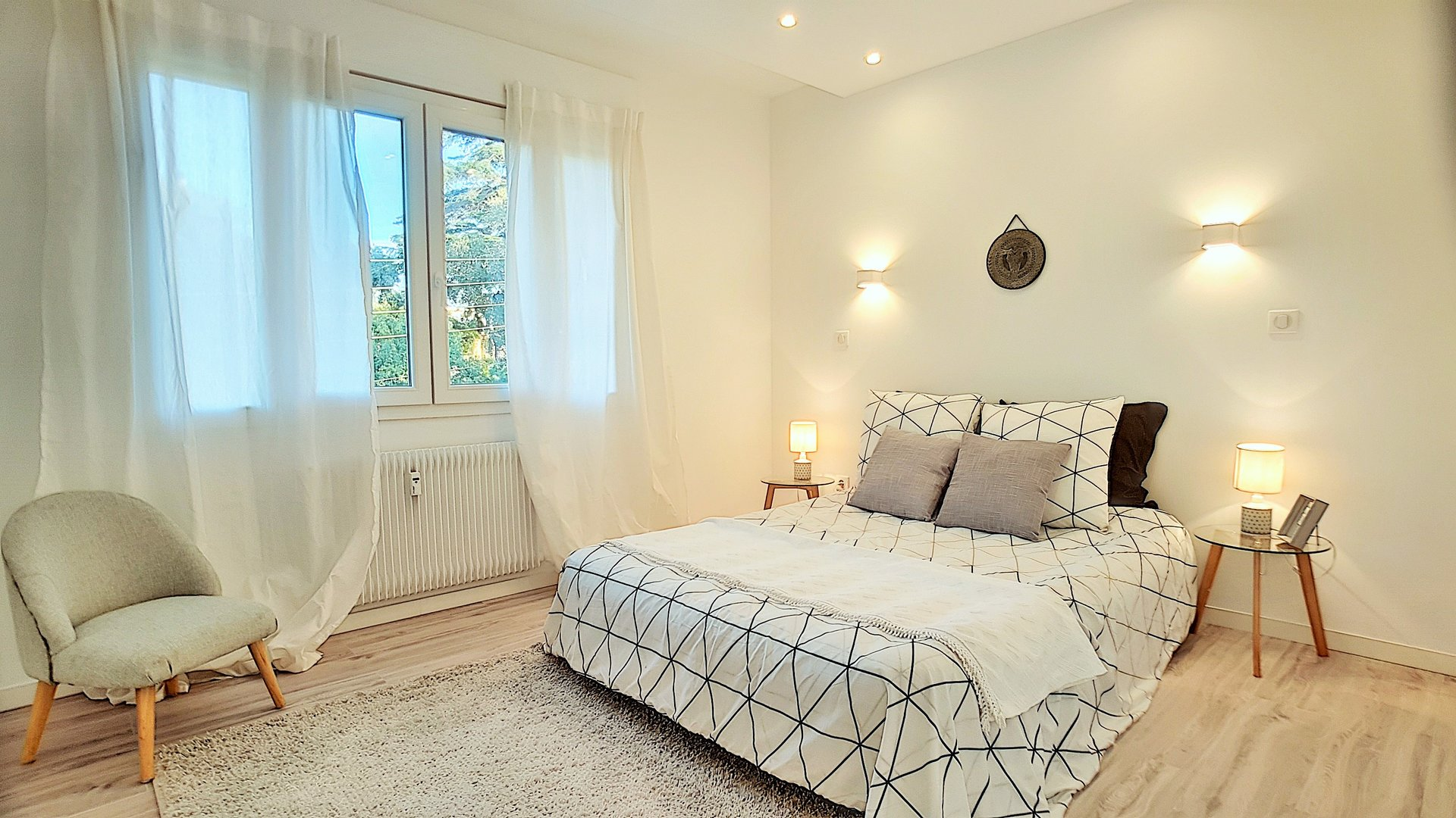 Cannes see view, 3-room apartment 2 berooms flat, top floor,, 75 m², garag