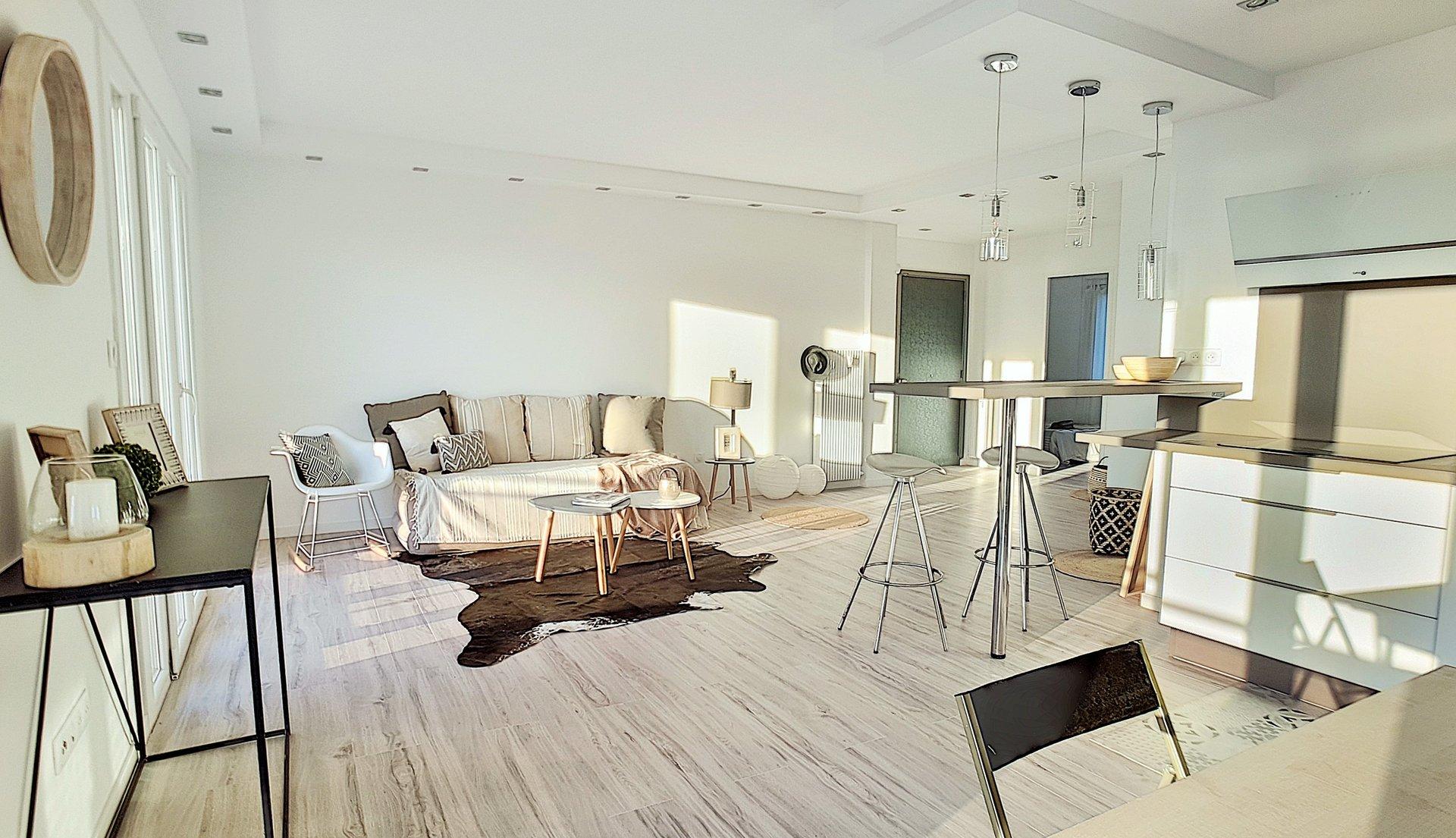 Cannes vue mer appartement dernier étage, 3 pièces , 75 m², garage