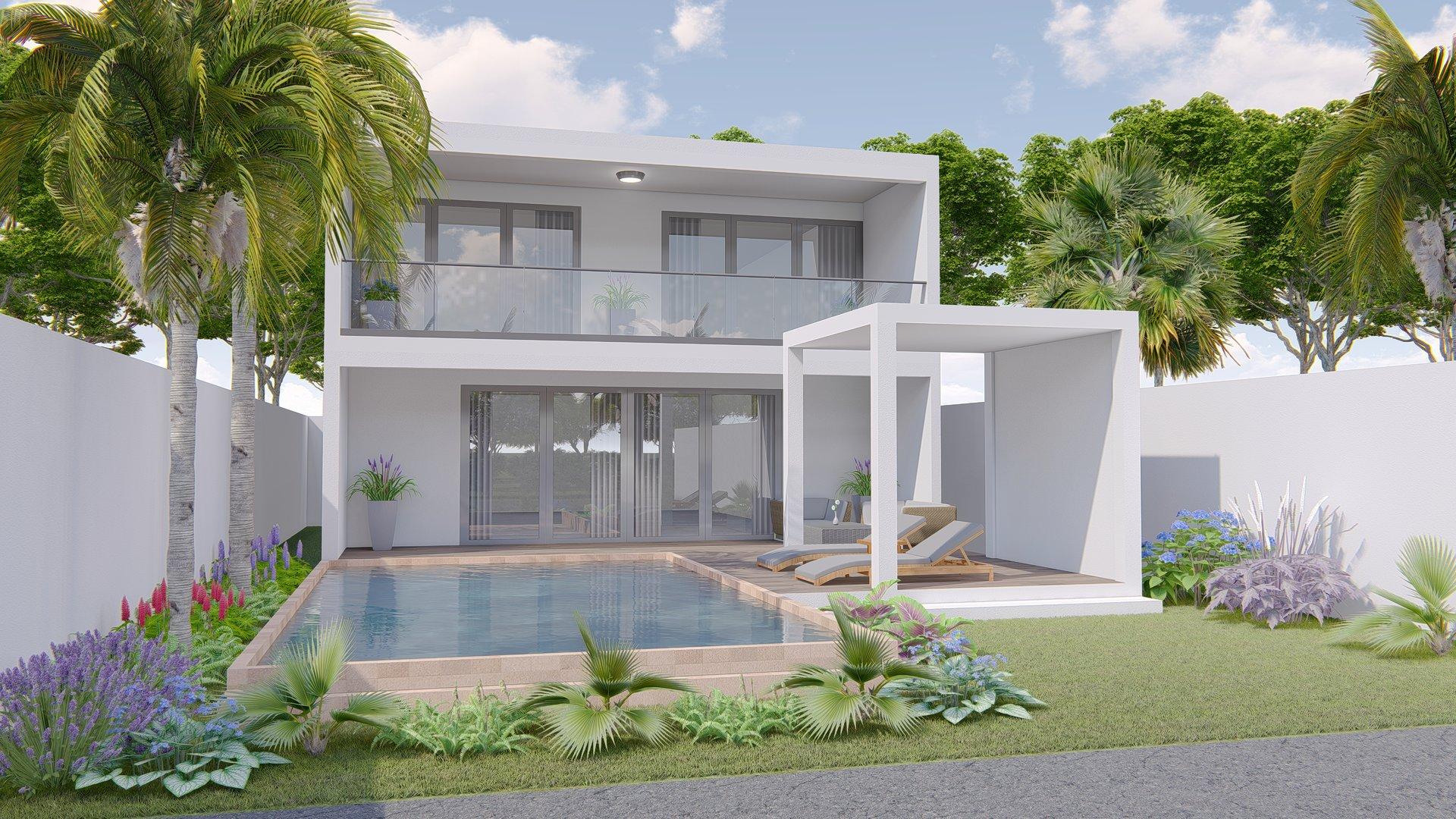 Belle villa moderne sur Pereybere