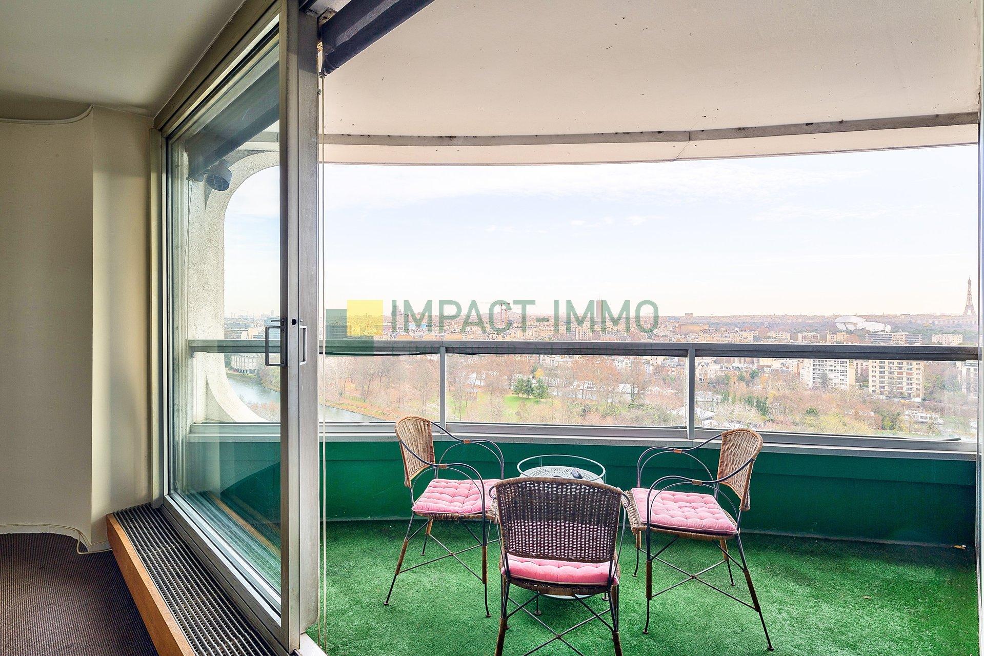 LE FRANCE : 4P vue panoramique - balcon, cave, parking