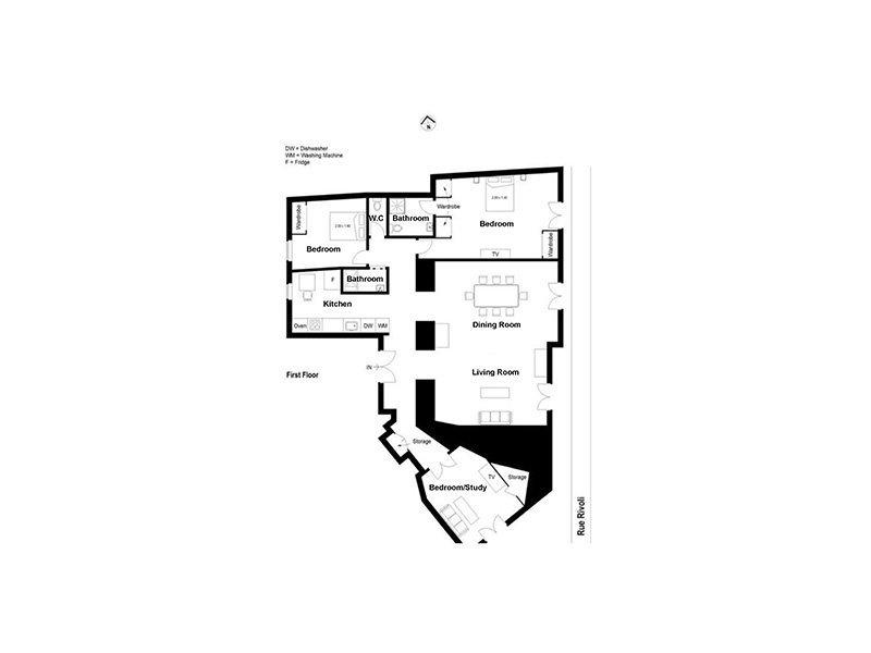 FÖRSÄLJNING Lägenhet 4 Rum 104m² Nice Carré d'Or Negresco Nära Havet