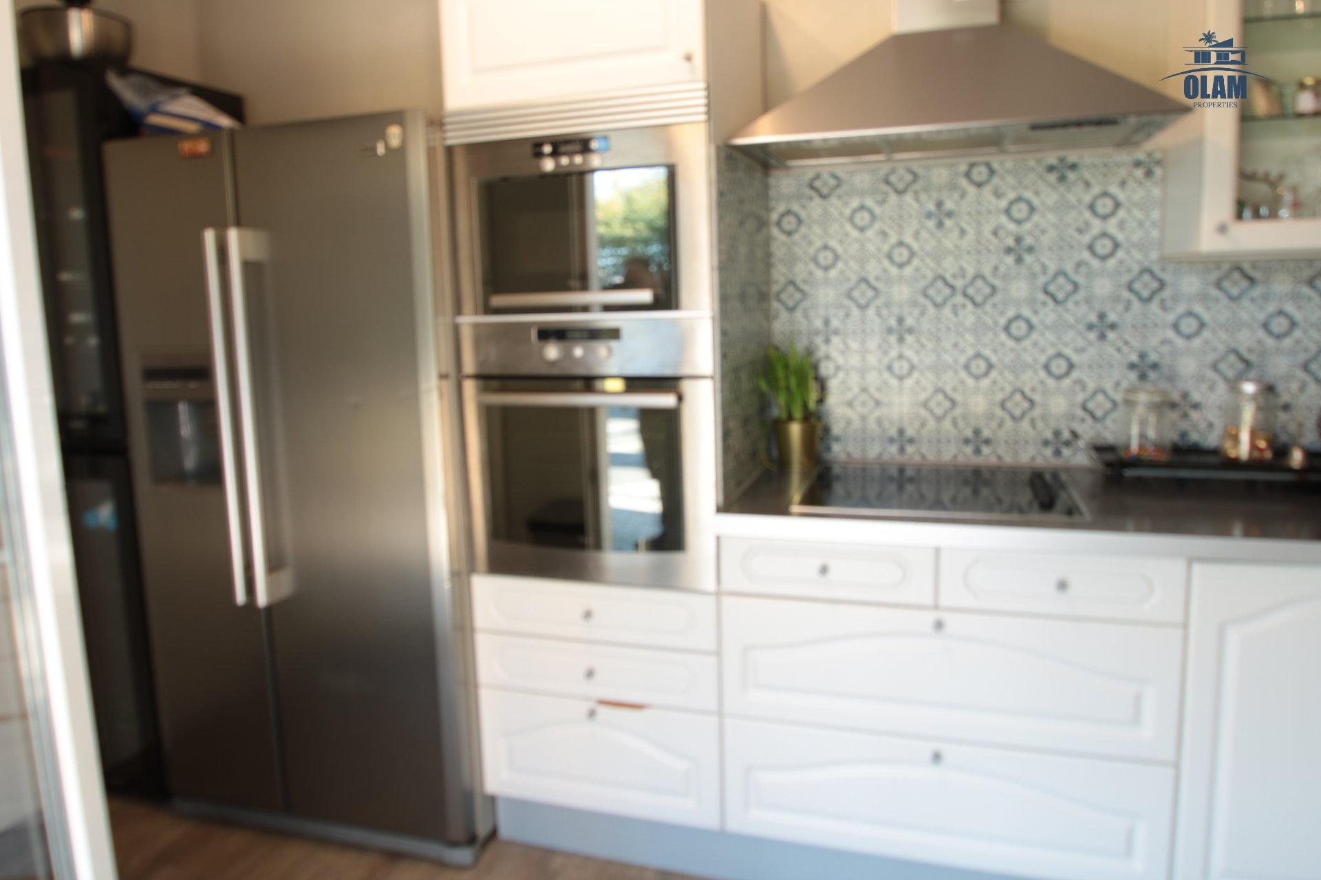 Kitchen, american fridge, oven, Cannes, La Croisette, French Riviera