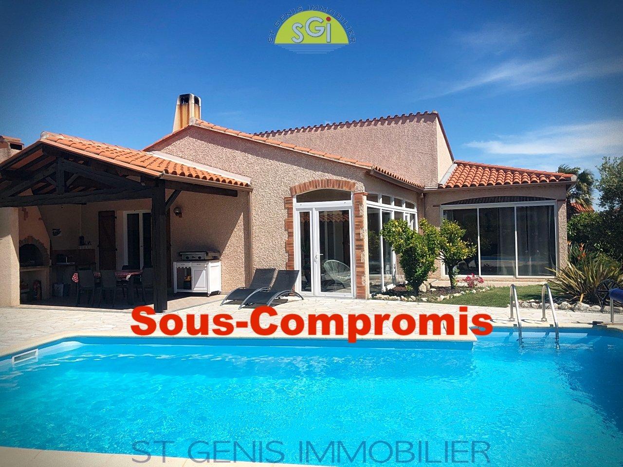 villa 4 faces de Plain Pied avec piscine