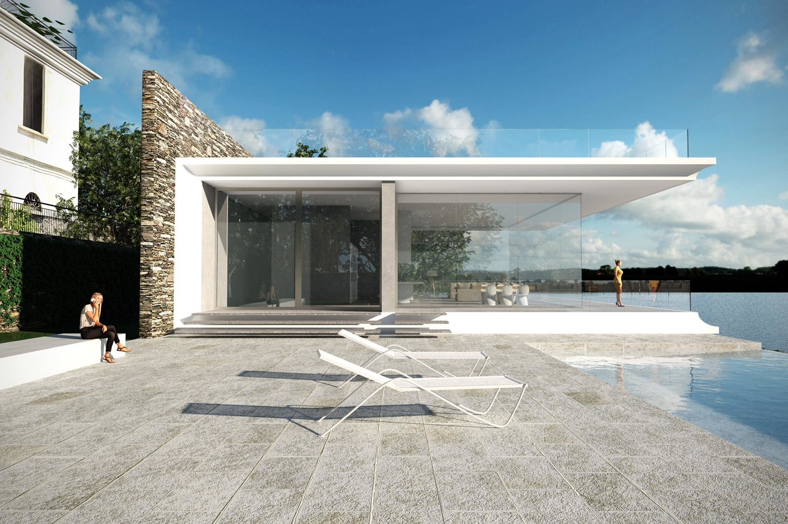 Exclusive modern villa for sale in Verbania - glass window