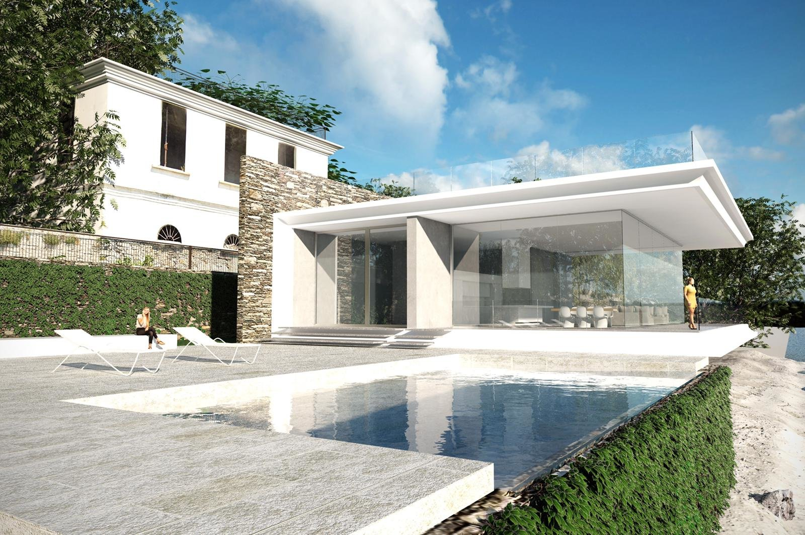 Exclusive modern villa for sale in Verbania - villa with swimming pool