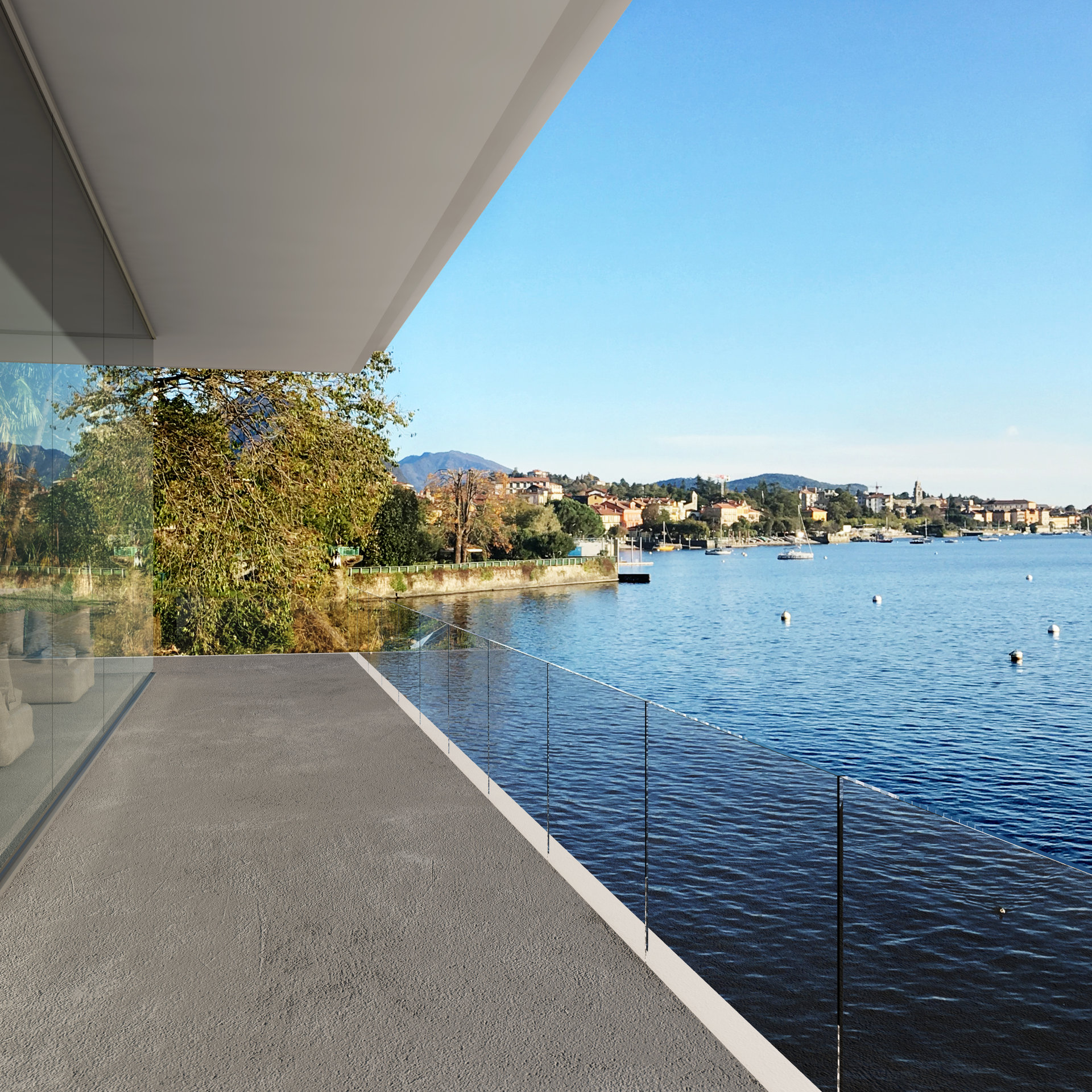 Exclusive modern villa for sale in Verbania - lake view