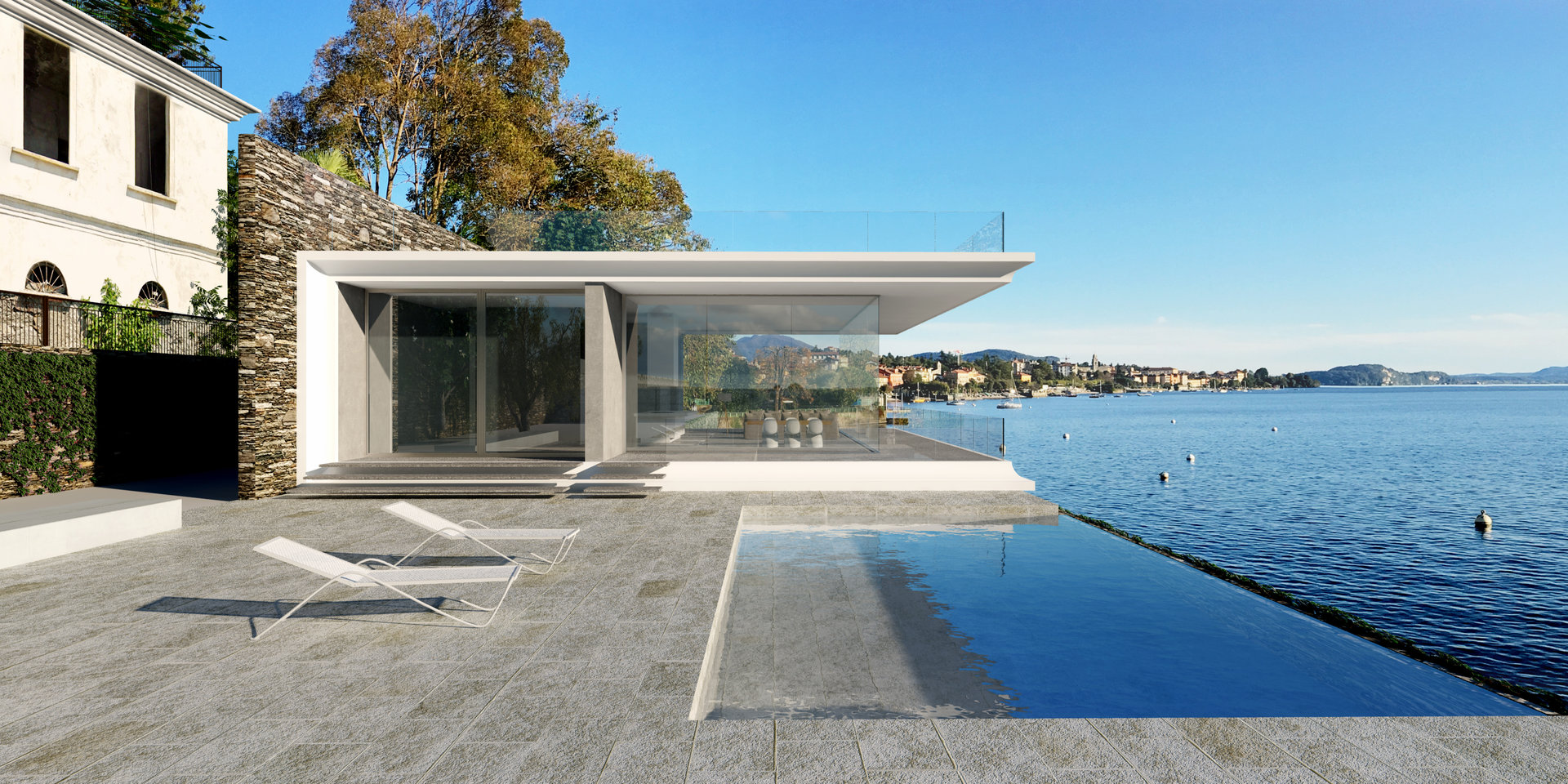 Exclusive modern villa for sale in Verbania -  villa on the lake