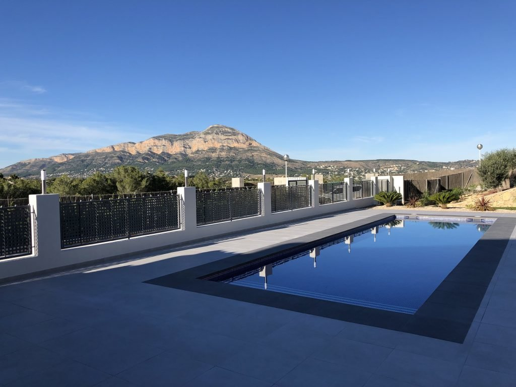 New construction with views of the mountains