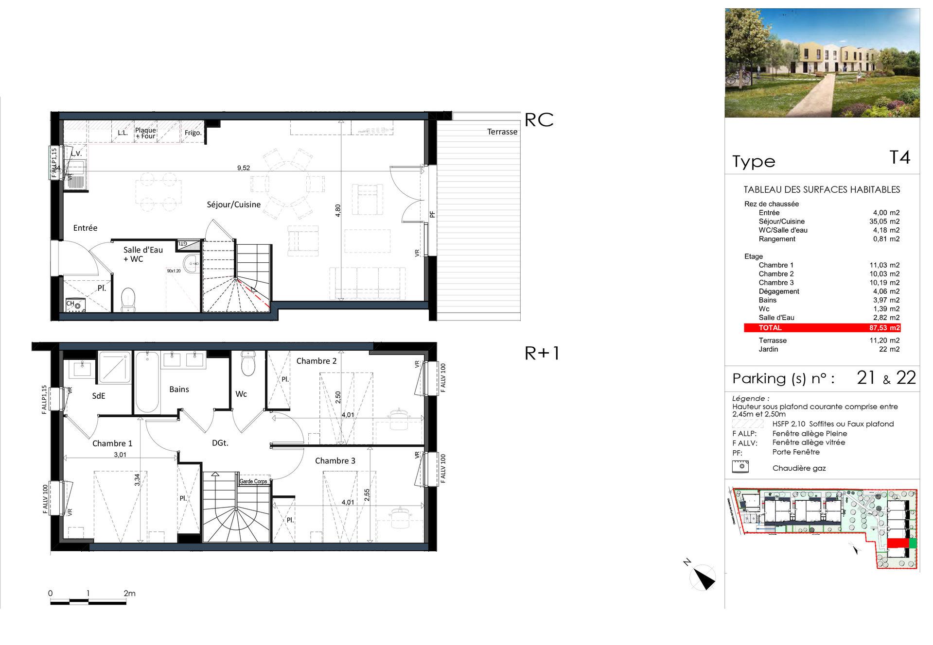 Villa T4 - 87m² - 31100 TOULOUSE LARDENNE