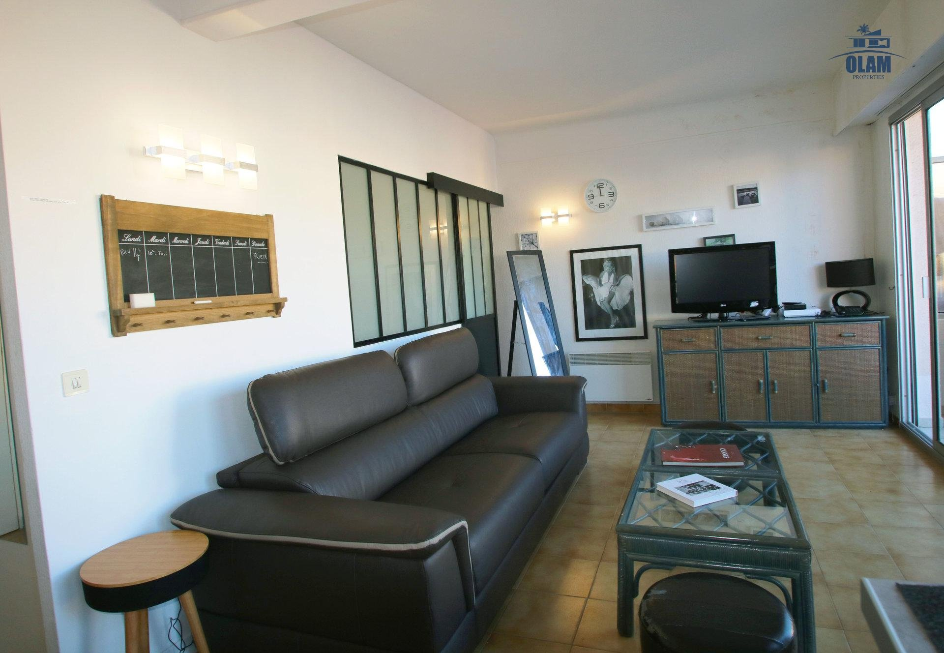 Livingroom, terrace, tv, free wifi, Cannes, Croisette, French Riviera