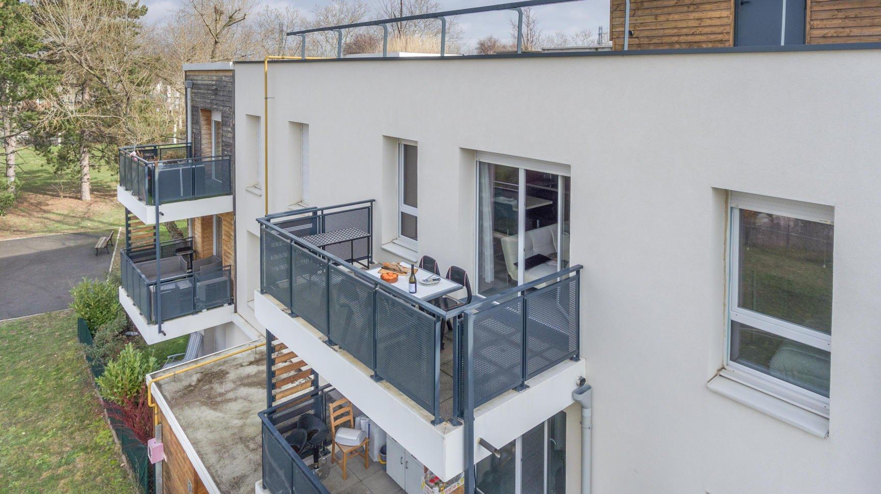 Terrase à l'Ouest pour ce T2 de 40 m²