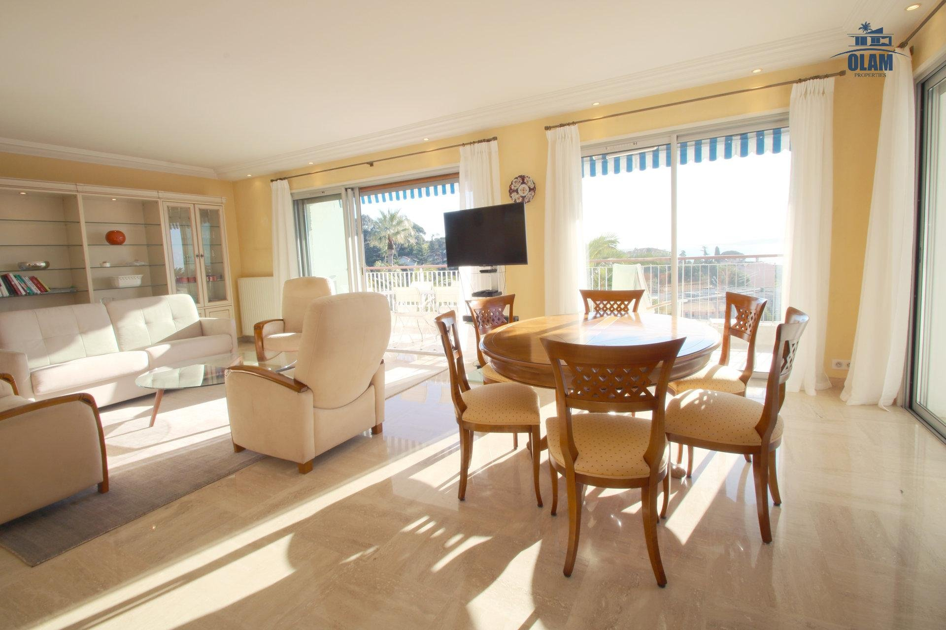 Living room, Cannes, sea view, Croisette, French Riviera