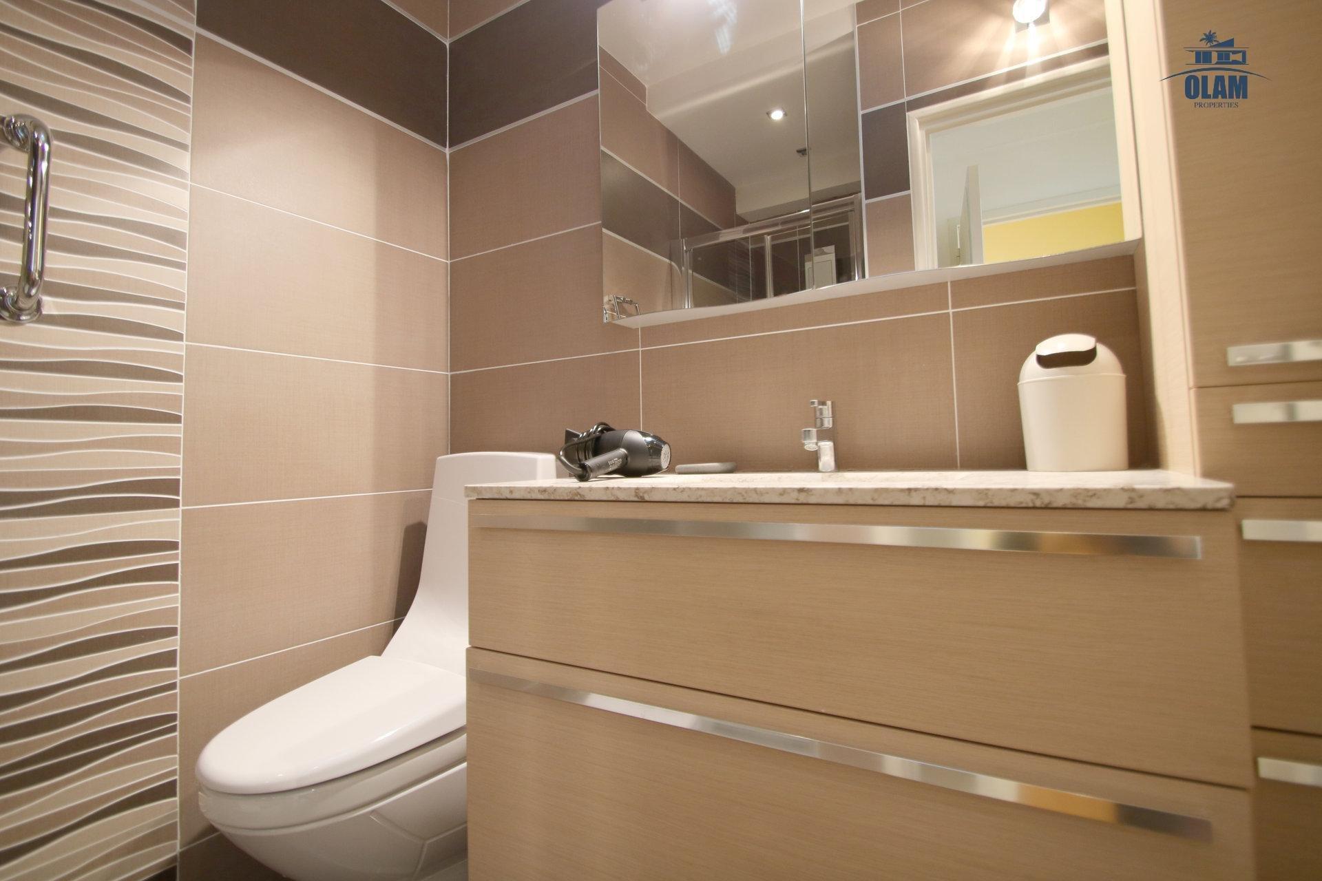 Salle de douche, toilettes, Cannes, 4 pièces Croisette