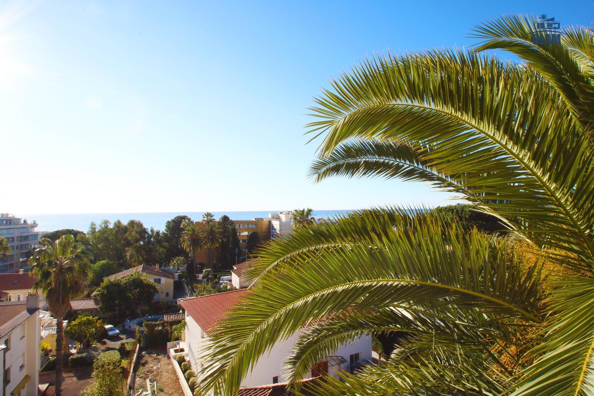 Vue panoramique mer, Cannes, Croisette, Côte d'Azur, terrasse d'angle