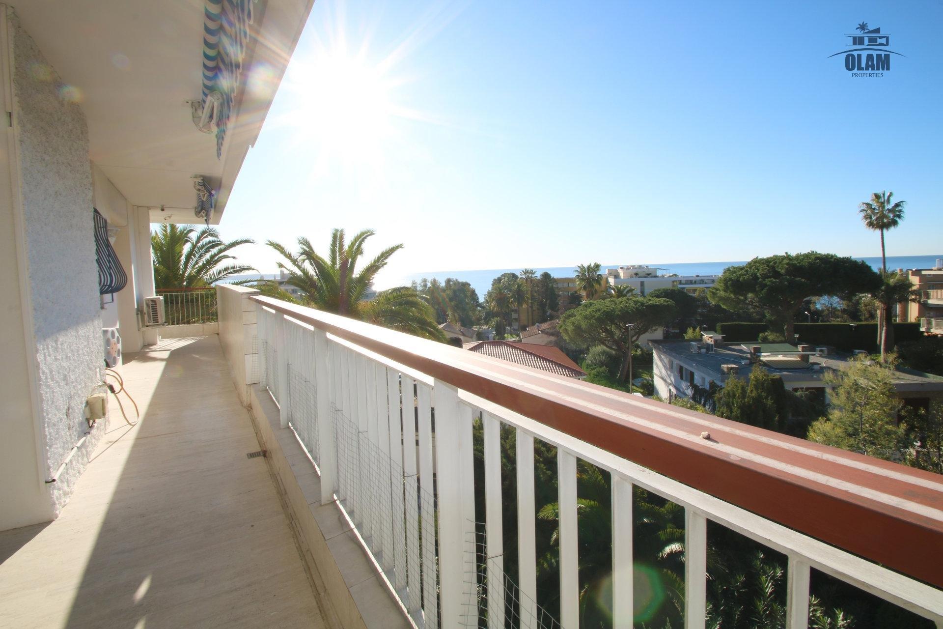 Terrasse, vue mer panoramique, Cannes, vacances, congrès