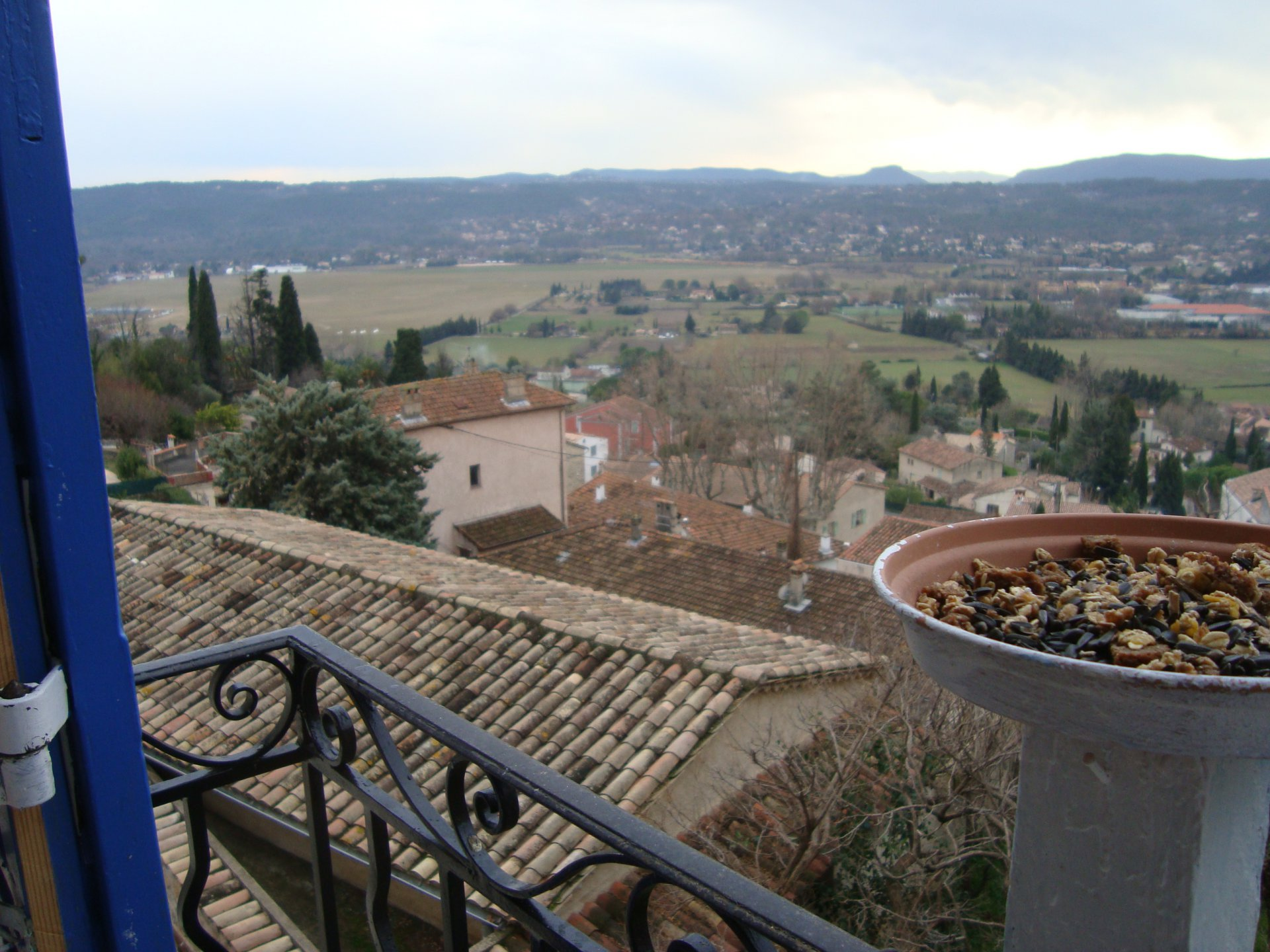 Fayence house in the village with panoramic view.