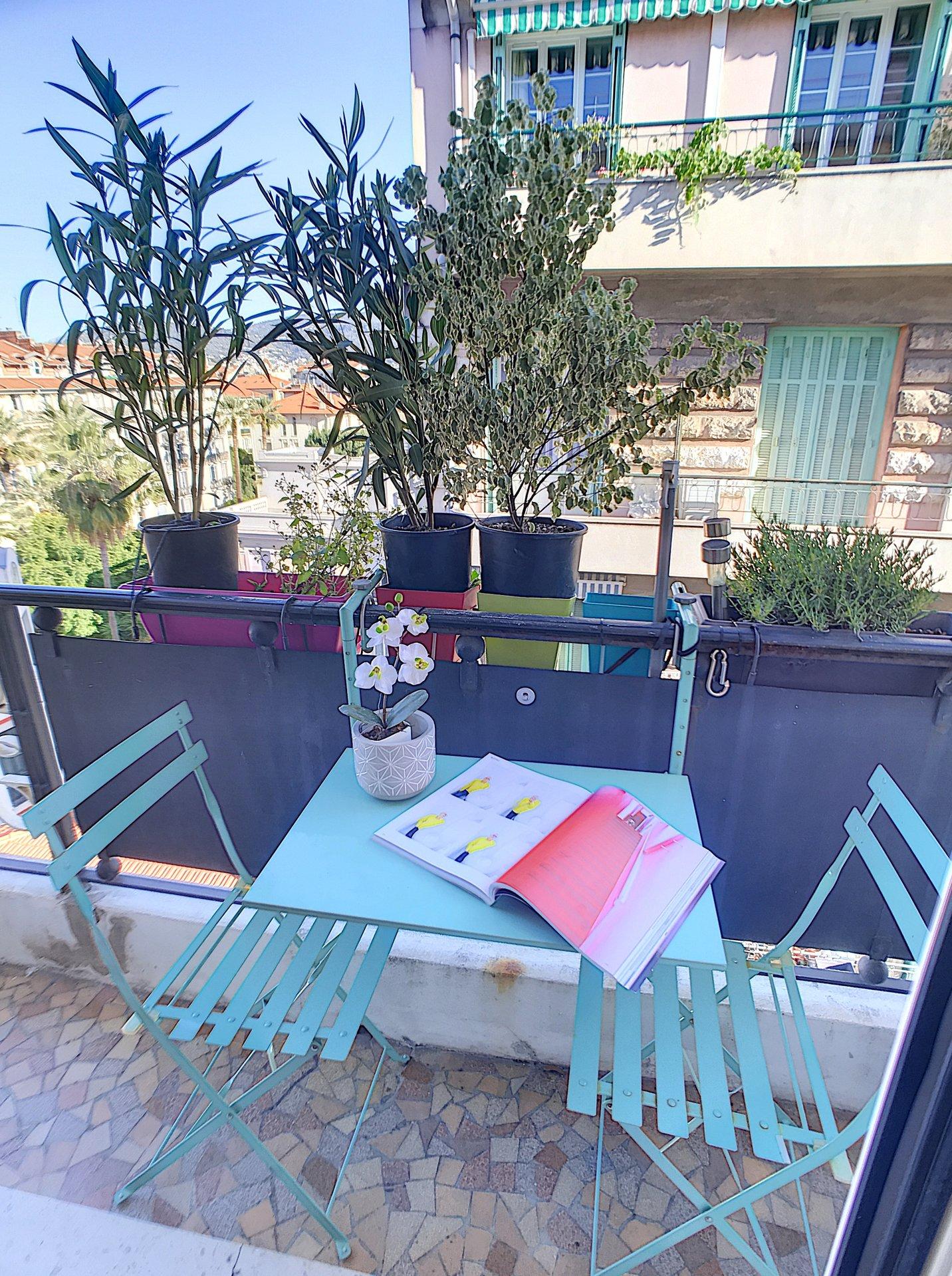 SALE Apartment 3 Rooms 82m² Nice Fleurs Balconies High Floor